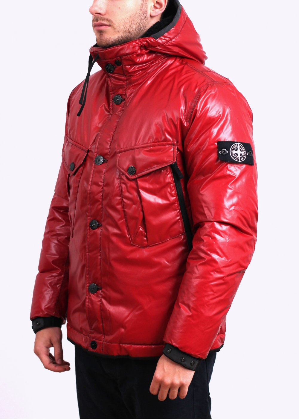 stone island ice thermo sensitive jacket brick red. Black Bedroom Furniture Sets. Home Design Ideas