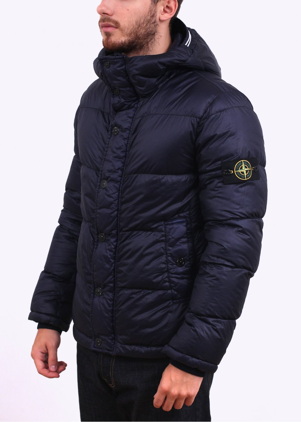 stone island packable down jacket garden house lazzerini. Black Bedroom Furniture Sets. Home Design Ideas