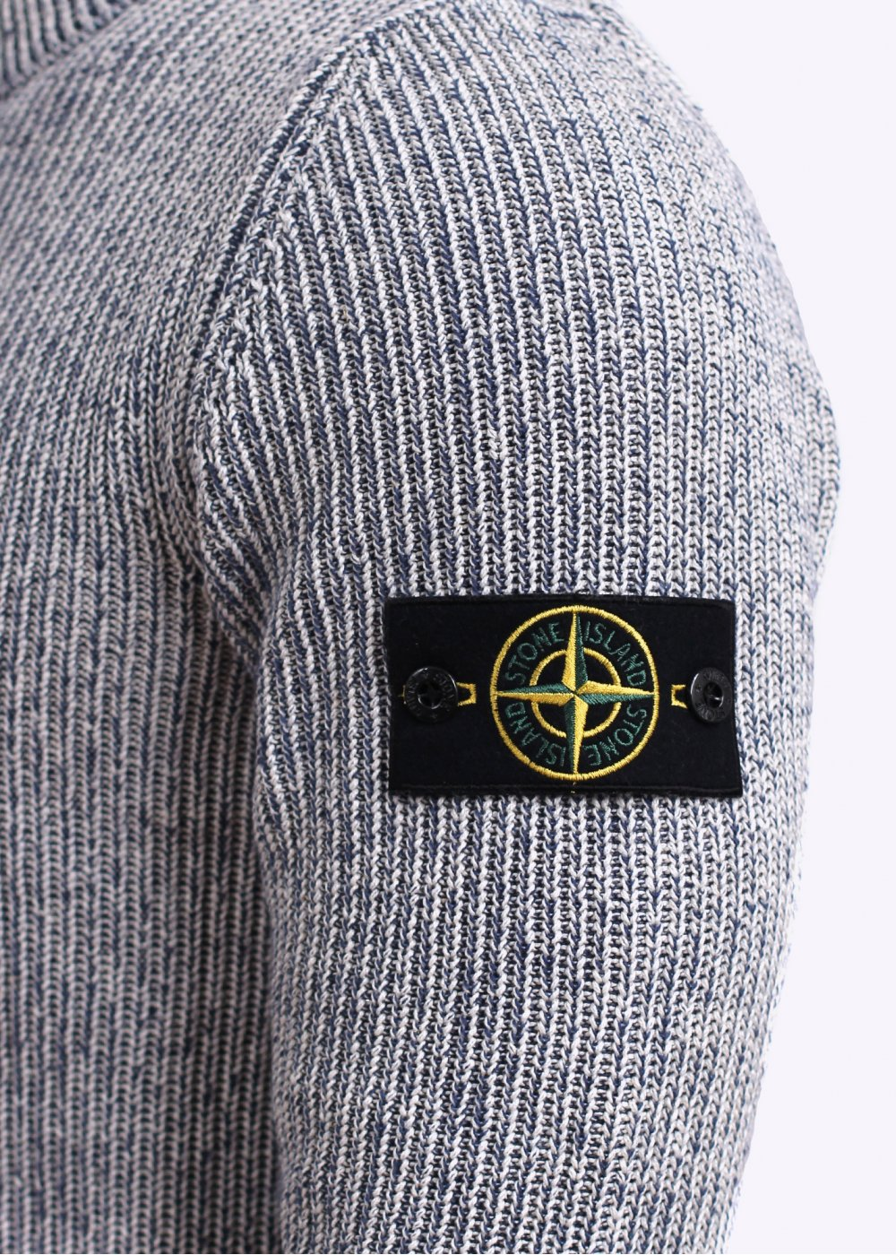 Stone Island Wool Amp Silk Knit Jumper Dark Blue