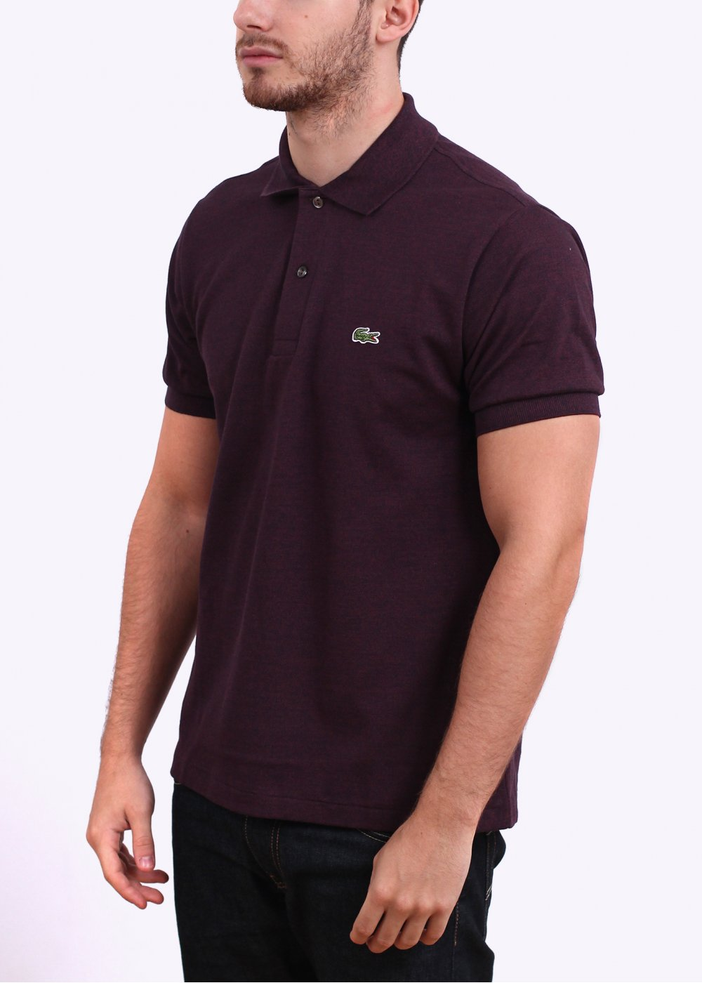 Lacoste heather polo shirt burgundy lacoste from triads uk - Lacoste poloshirt weiay ...