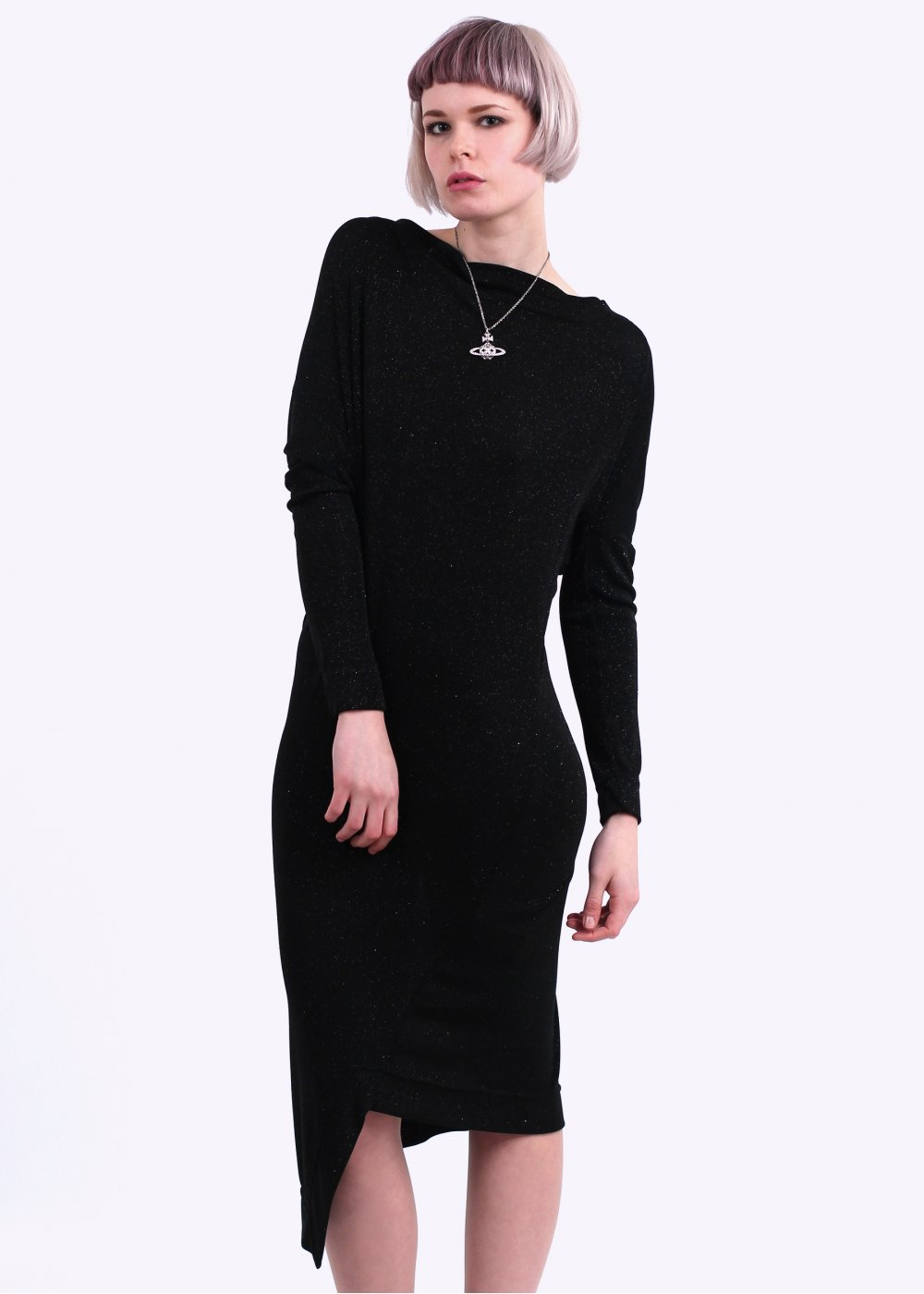 Vivienne Westwood Anglomania Hollow Dress Black Aw14
