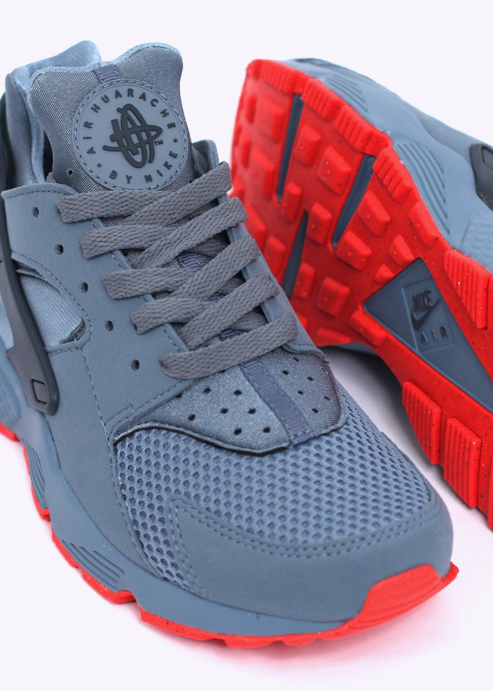 nike huarache blue red