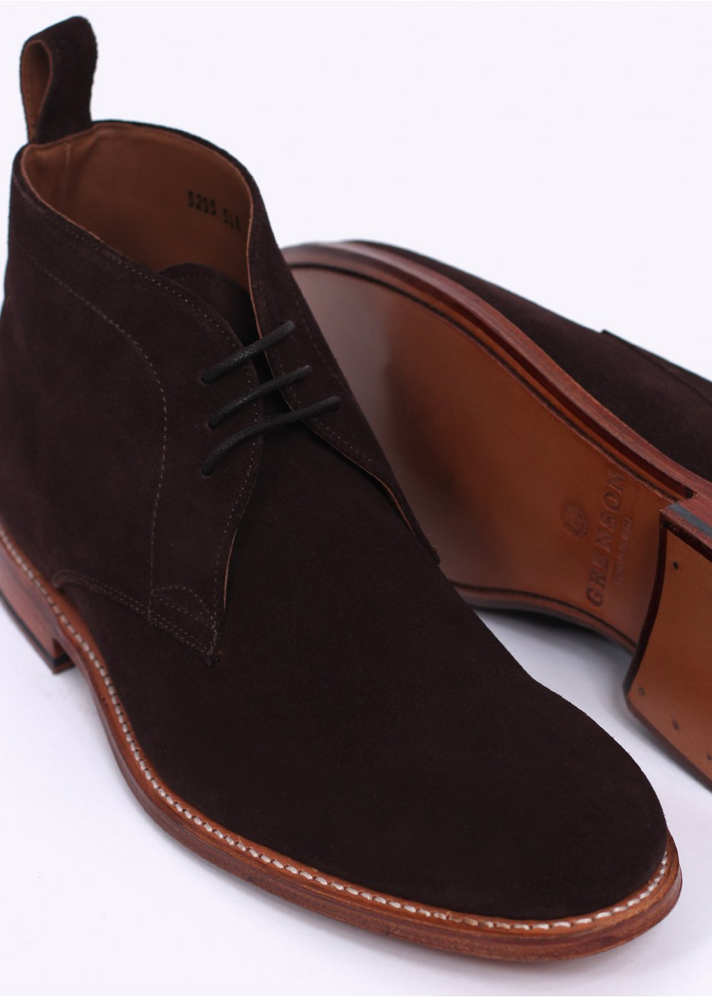 grenson suede chukka boot chocolate brown