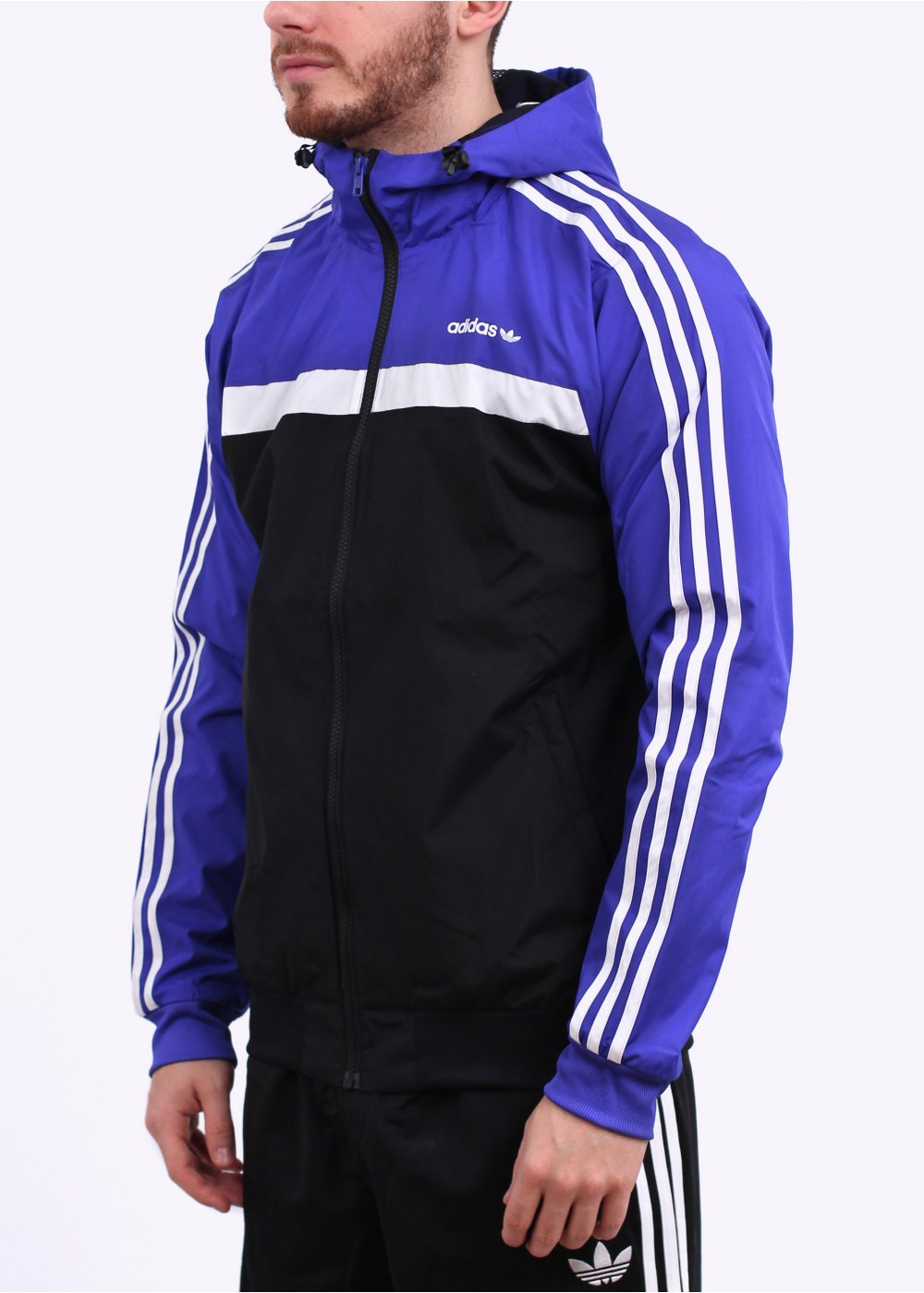 adidas originals marathon 83 jacket purple black. Black Bedroom Furniture Sets. Home Design Ideas