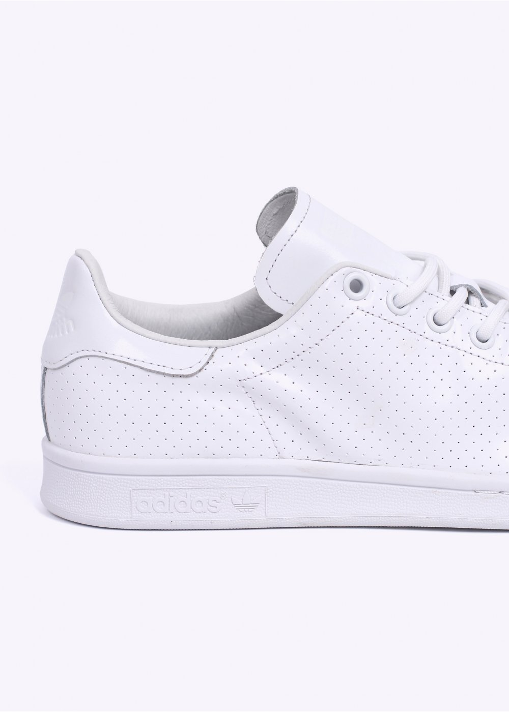 adidas Originals Stan Smith Perforated Leather Trainers ...