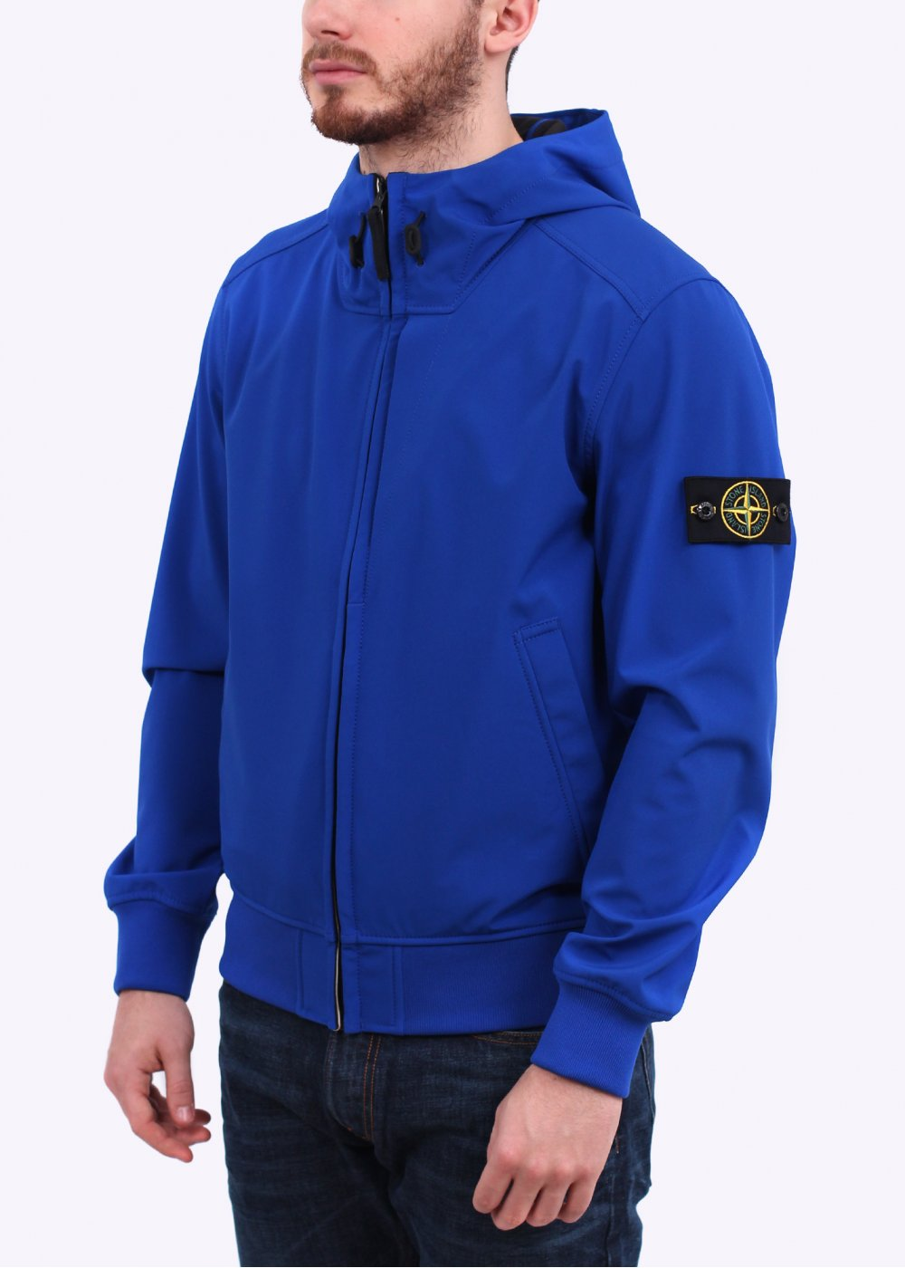 stone island ss15 light soft shell jacket royal blue