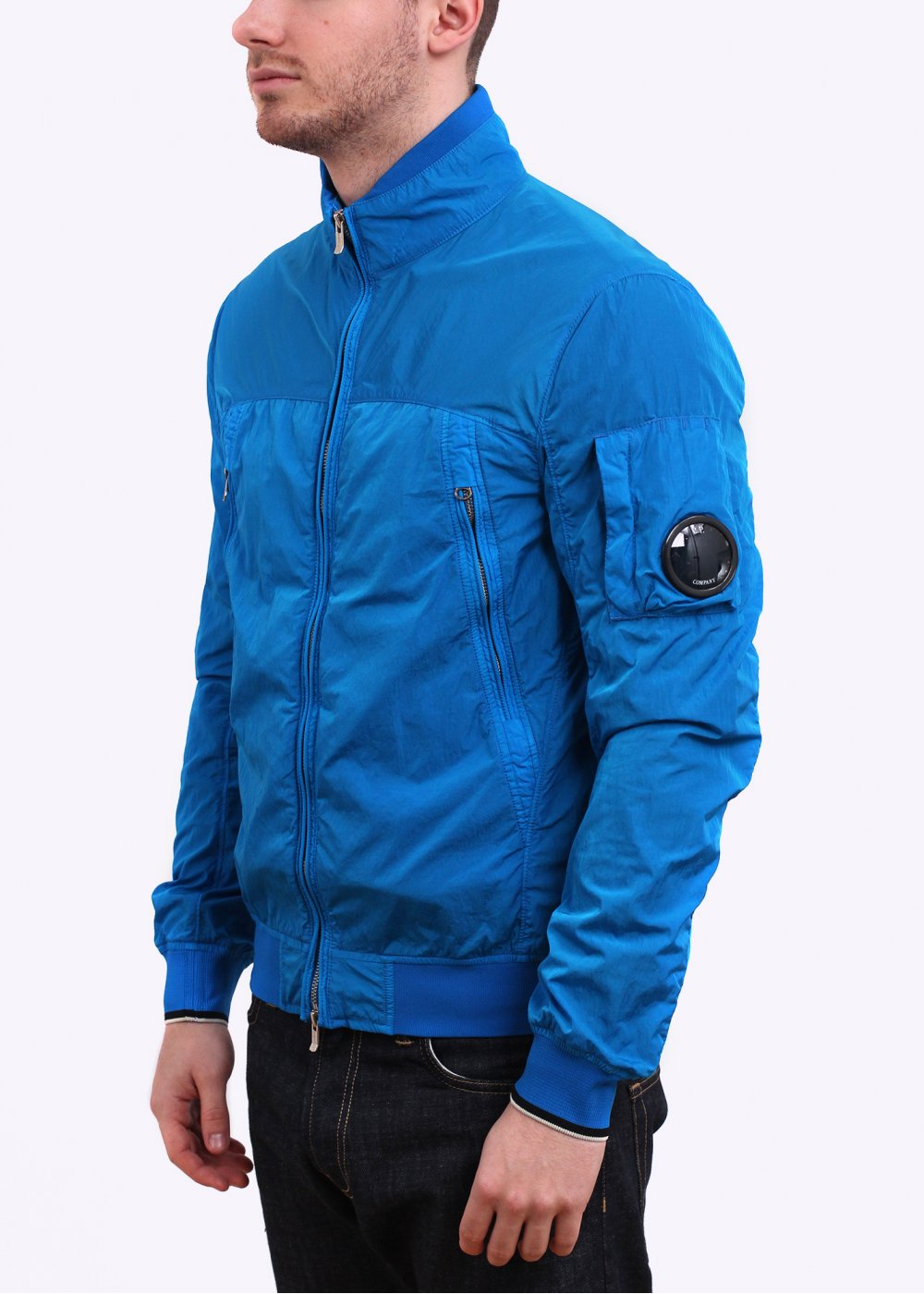 CP Company Chrome Reflective High Density Nylon Jacket Bright Blue
