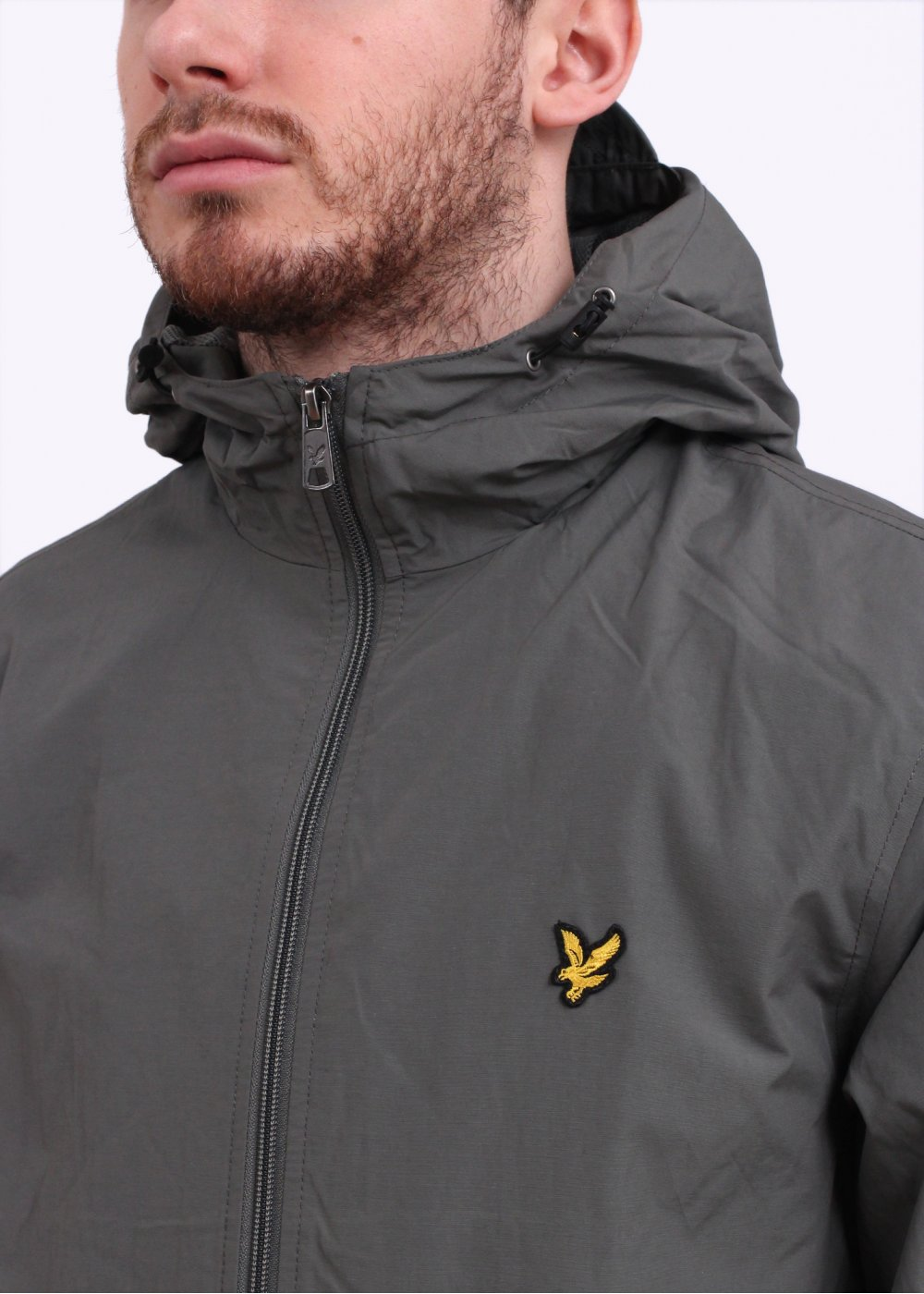 lyle scott zip hooded jacket slate tile. Black Bedroom Furniture Sets. Home Design Ideas