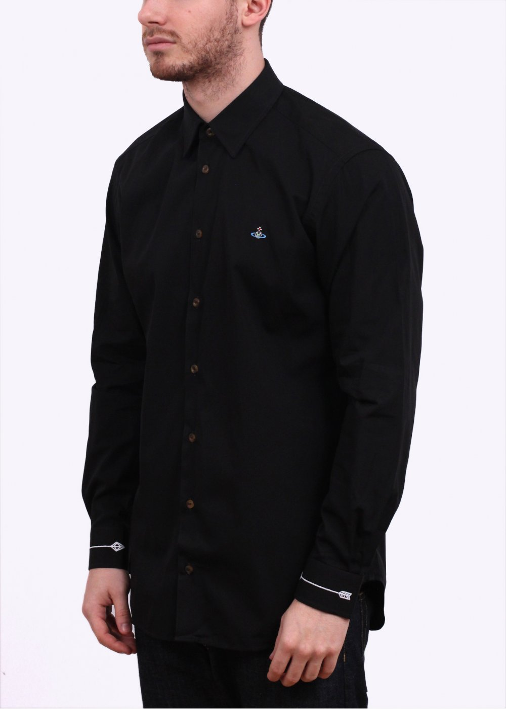 Vivienne Westwood Embroidered Cuff Shirt Black