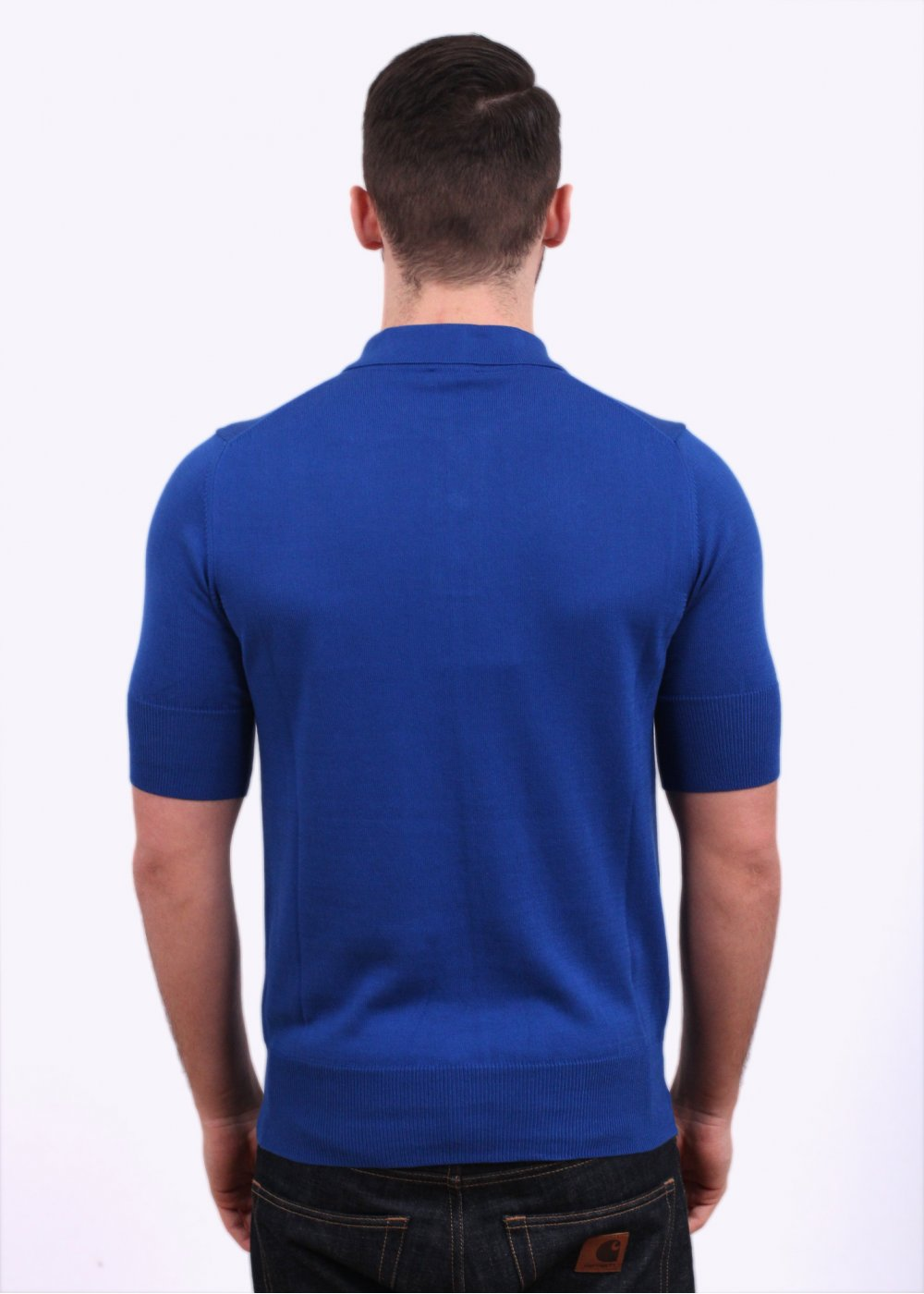 Vivienne Westwood Cuff Sleeve Polo Shirt Royal Blue