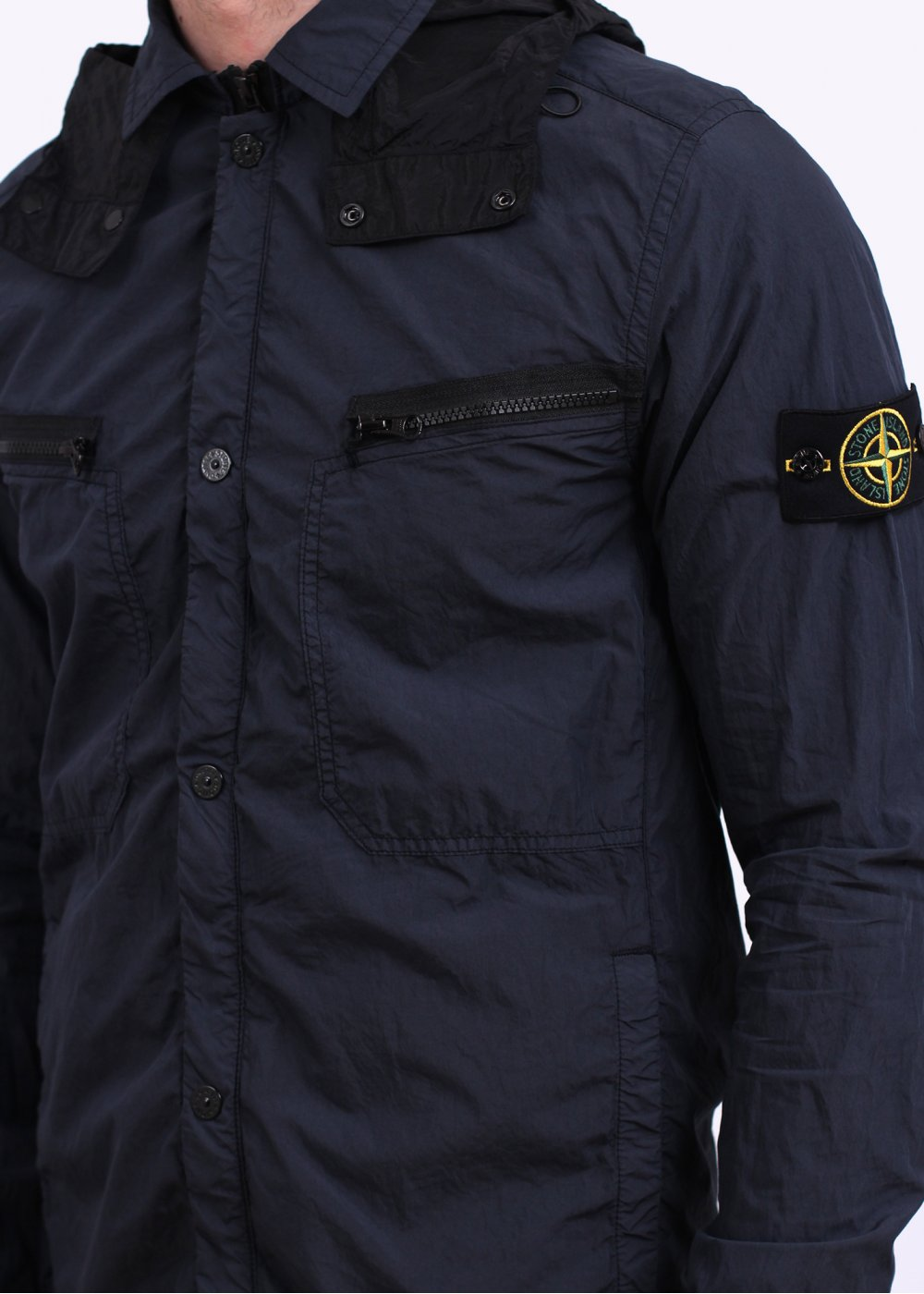 stone island lightweight overshirt jacket navy. Black Bedroom Furniture Sets. Home Design Ideas
