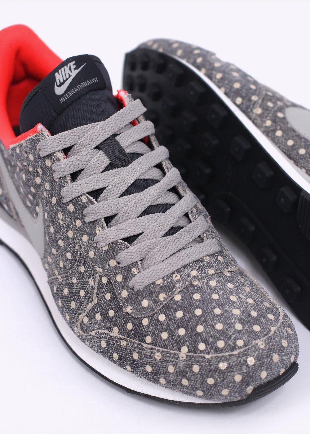 quality design 61621 7db86 ... nike footwear internationalist ltr polka dot trainers anthracite    granite ... ... nike internationalist leather premium ltr prm polka dot  pack sneakers ...