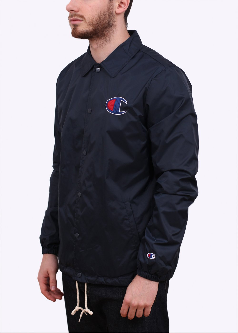 Champion coach jacket navy for Coach jacket