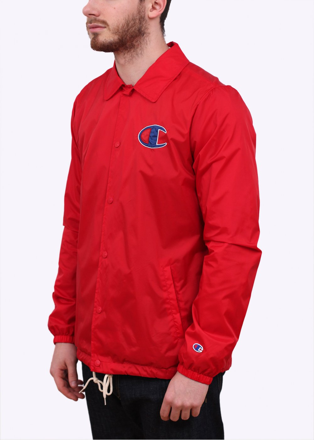 Champion coach jacket red for Coach jacket
