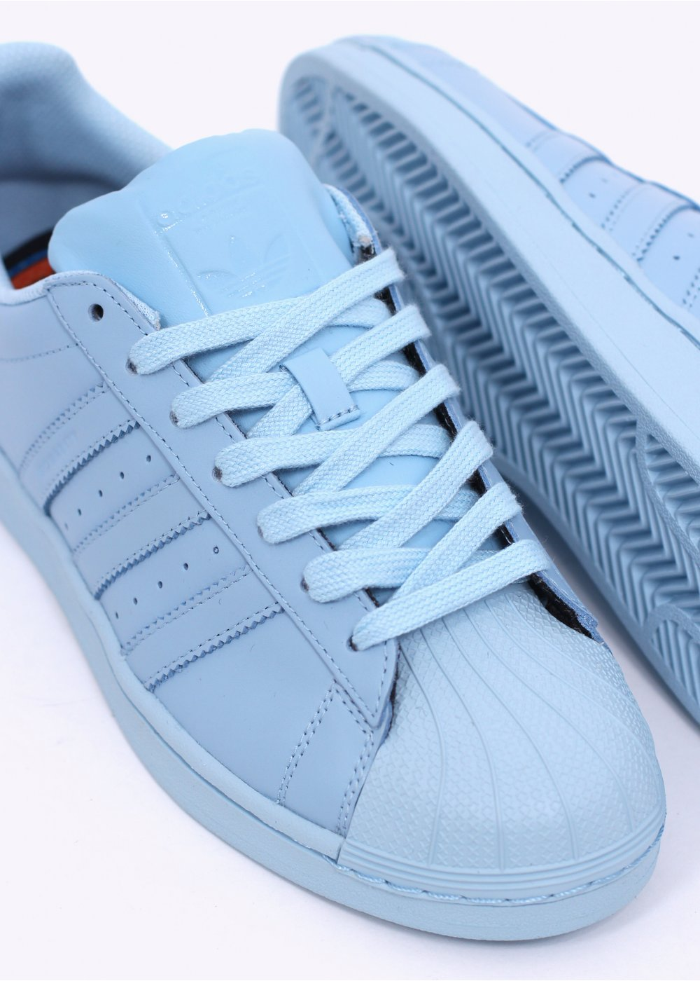 adidas originals x pharrell superstar supercolour clear sky. Black Bedroom Furniture Sets. Home Design Ideas