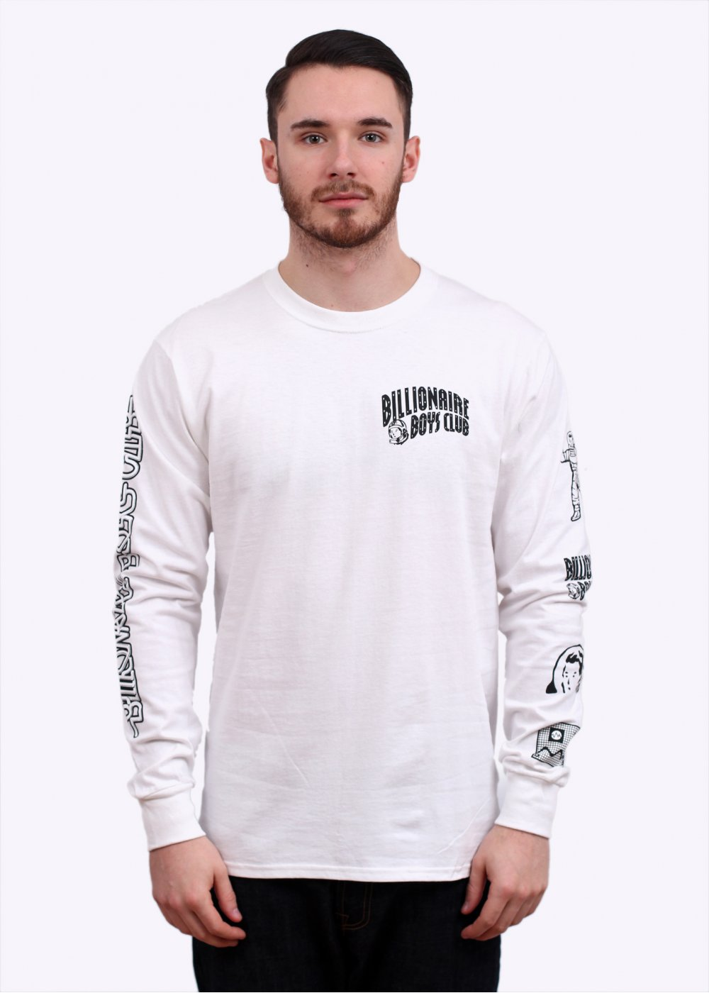 Billionaire Boys Club Multi Logo Long Sleeve Tee