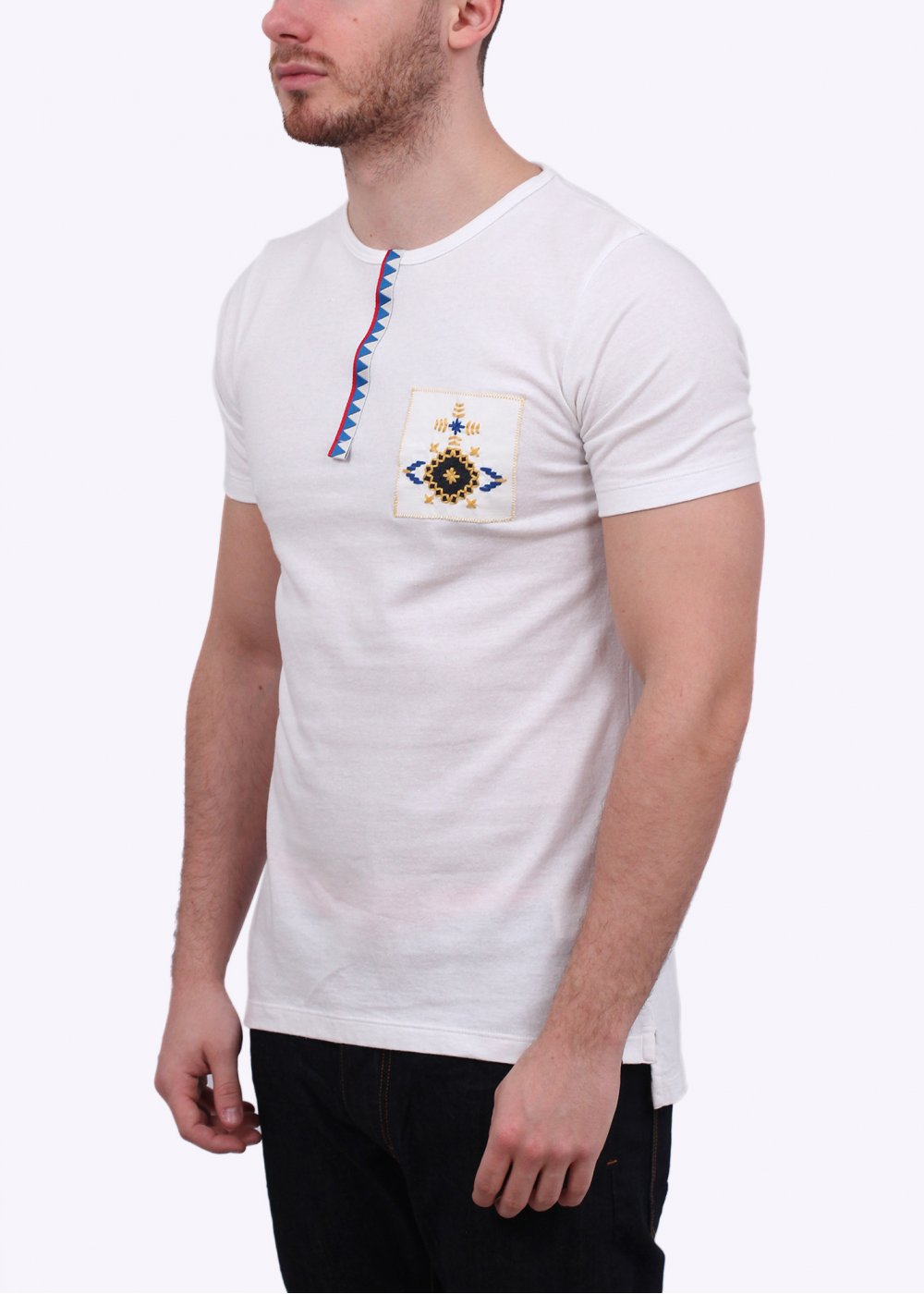 Vivienne Westwood Anglomania Embroidered Lace Orb Tee White