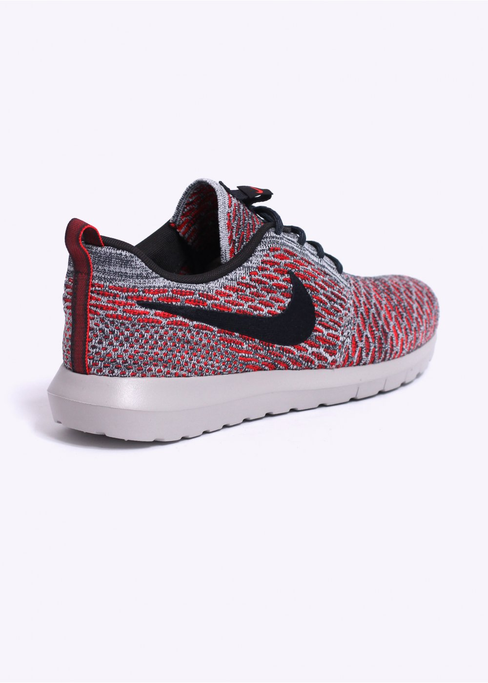 nike flyknit roshe run trainers bright crimson. Black Bedroom Furniture Sets. Home Design Ideas