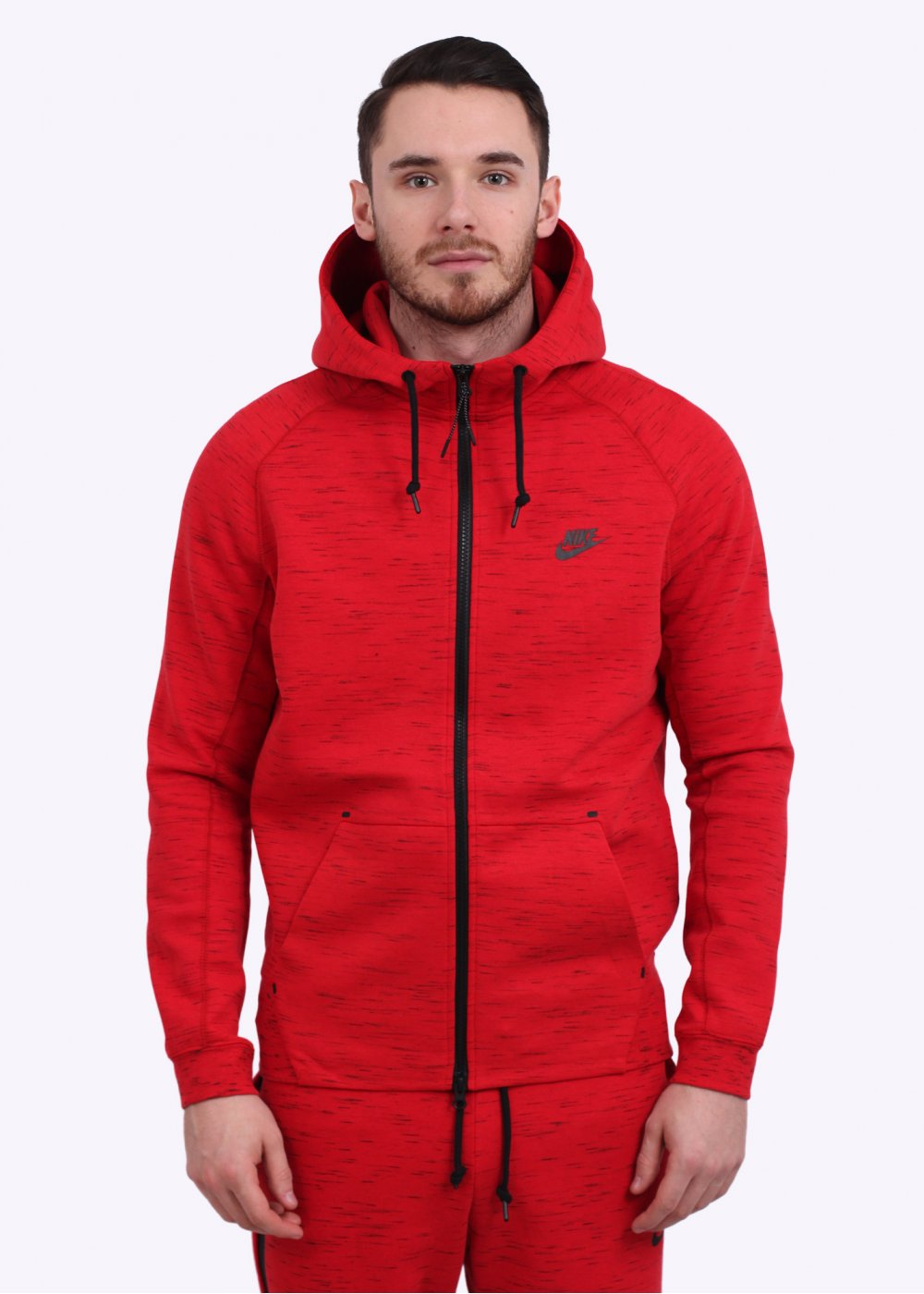 nike aw77 tech fleece hoodie red. Black Bedroom Furniture Sets. Home Design Ideas