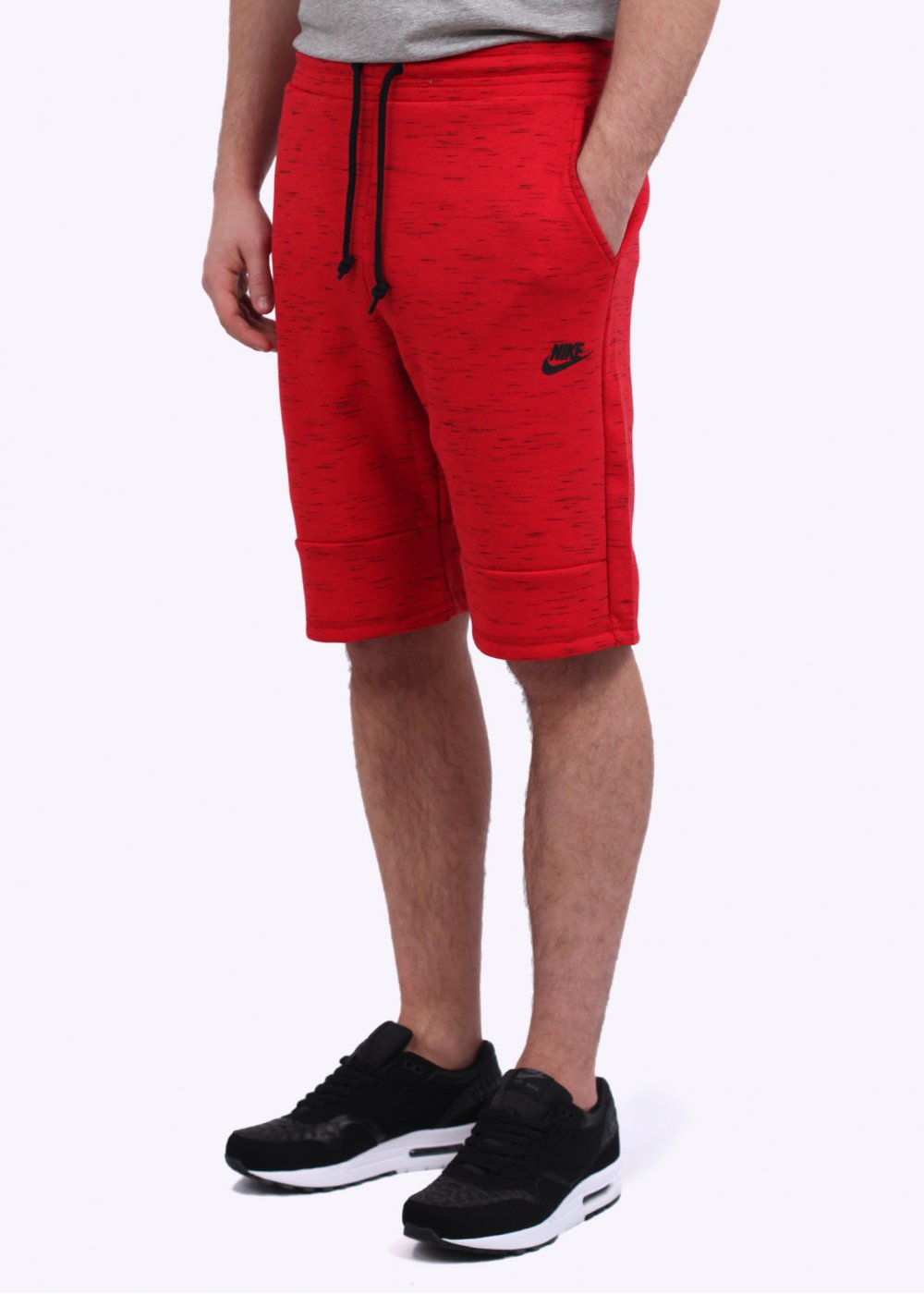 nike tech fleece shorts red. Black Bedroom Furniture Sets. Home Design Ideas