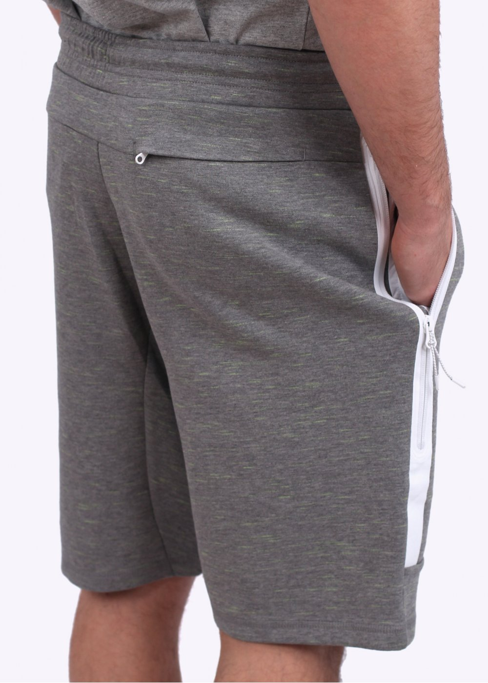nike tech fleece shorts carbon yellow fleck. Black Bedroom Furniture Sets. Home Design Ideas