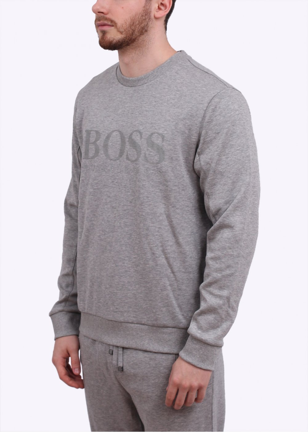 hugo boss grey sweater sweater jeans and boots. Black Bedroom Furniture Sets. Home Design Ideas