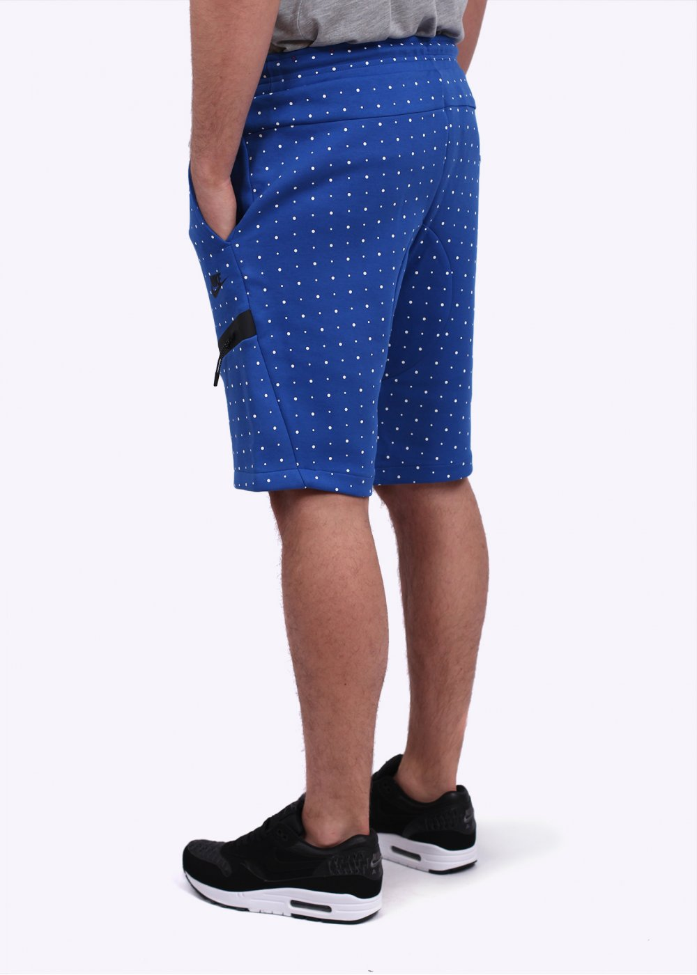 nike sportswear tech fleece dots shorts blue. Black Bedroom Furniture Sets. Home Design Ideas