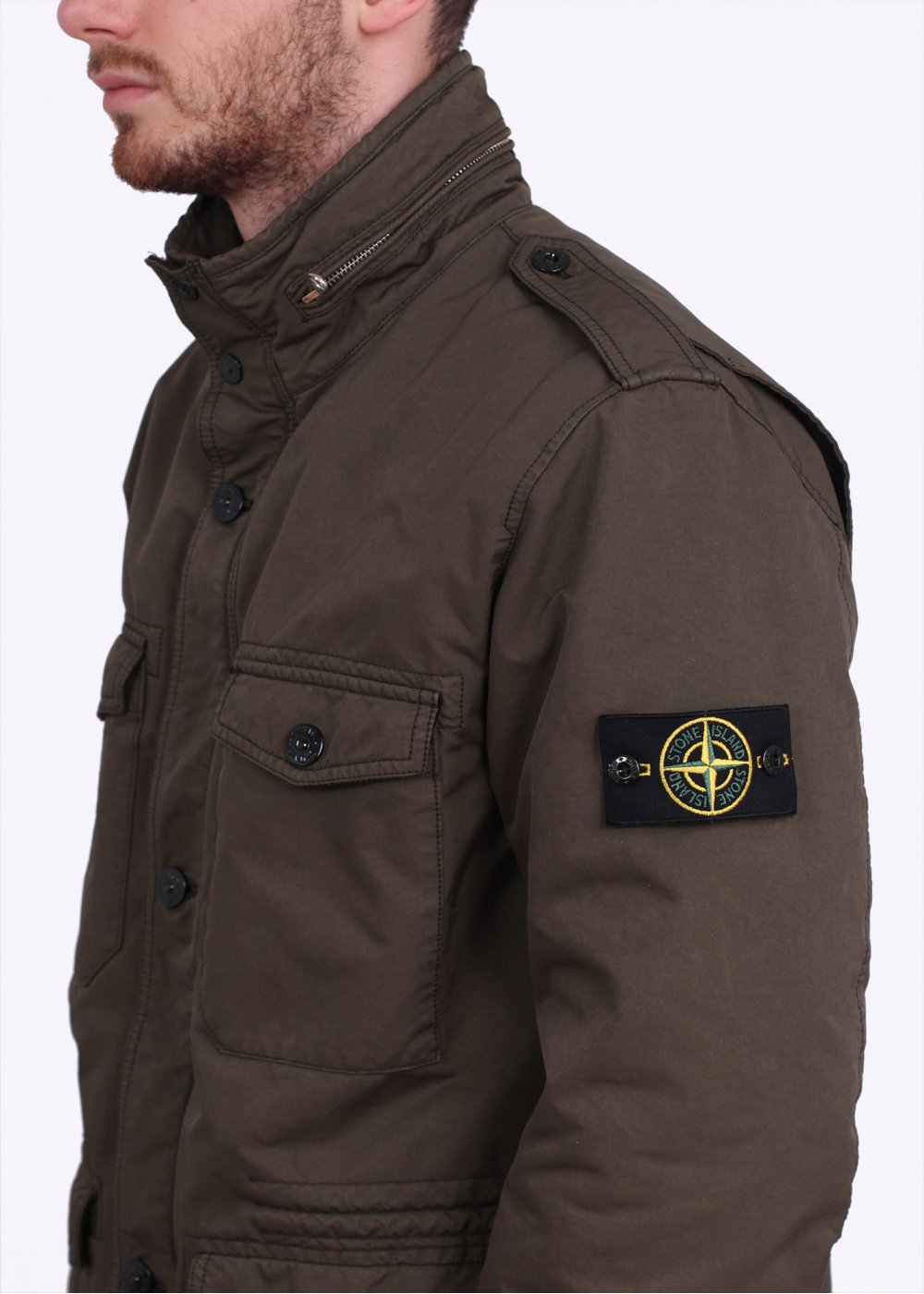 stone island david tc field jacket military green. Black Bedroom Furniture Sets. Home Design Ideas