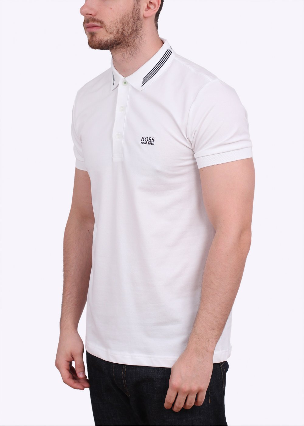 Hugo boss green paule polo shirt white for Hugo boss green polo shirt sale