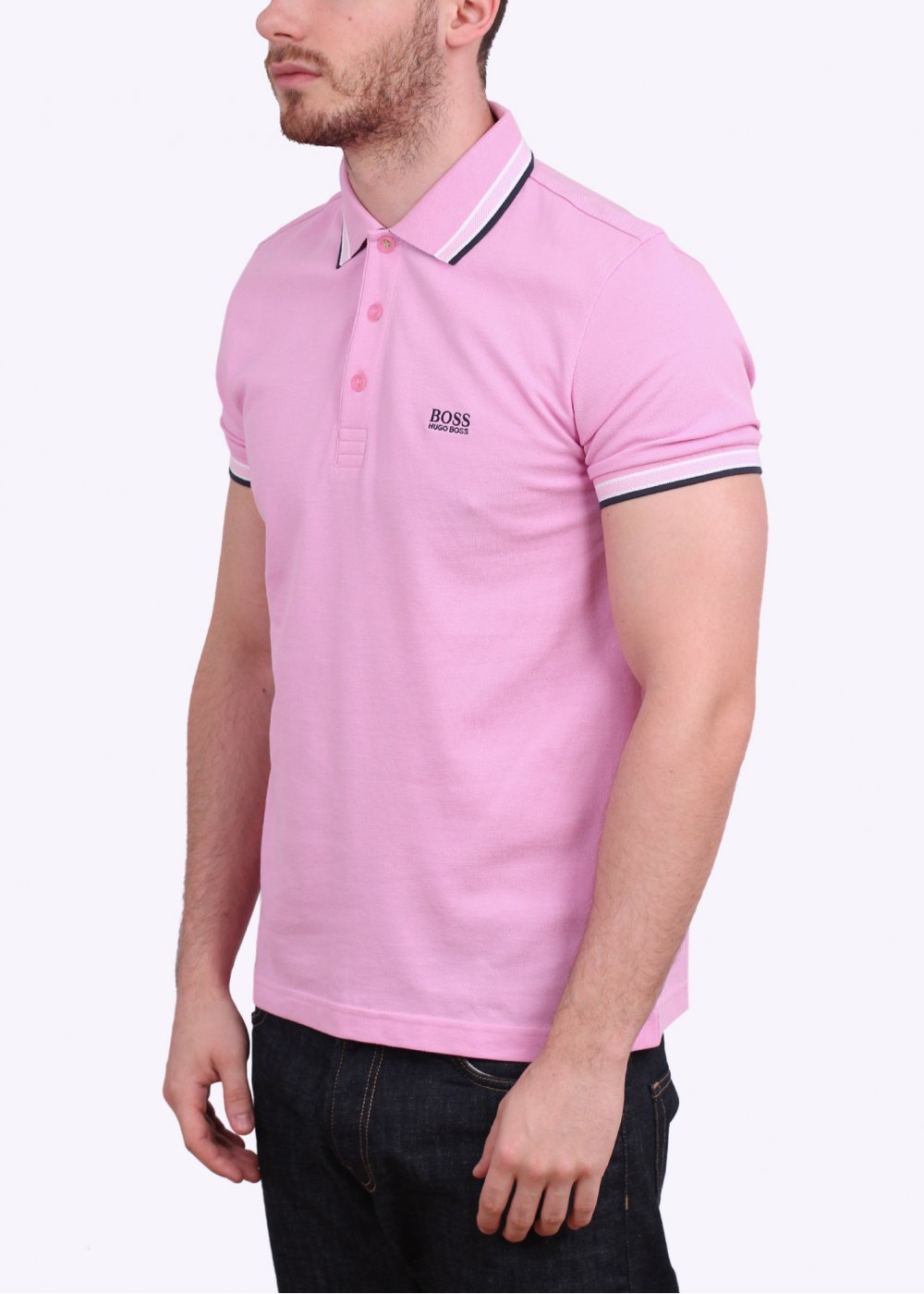 Hugo boss green paddy polo shirt light pink for Hugo boss green polo shirt sale