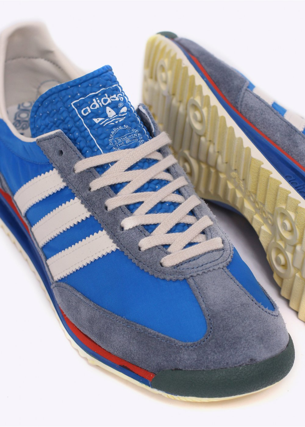 adidas originals sl72 vintage trainers blue. Black Bedroom Furniture Sets. Home Design Ideas