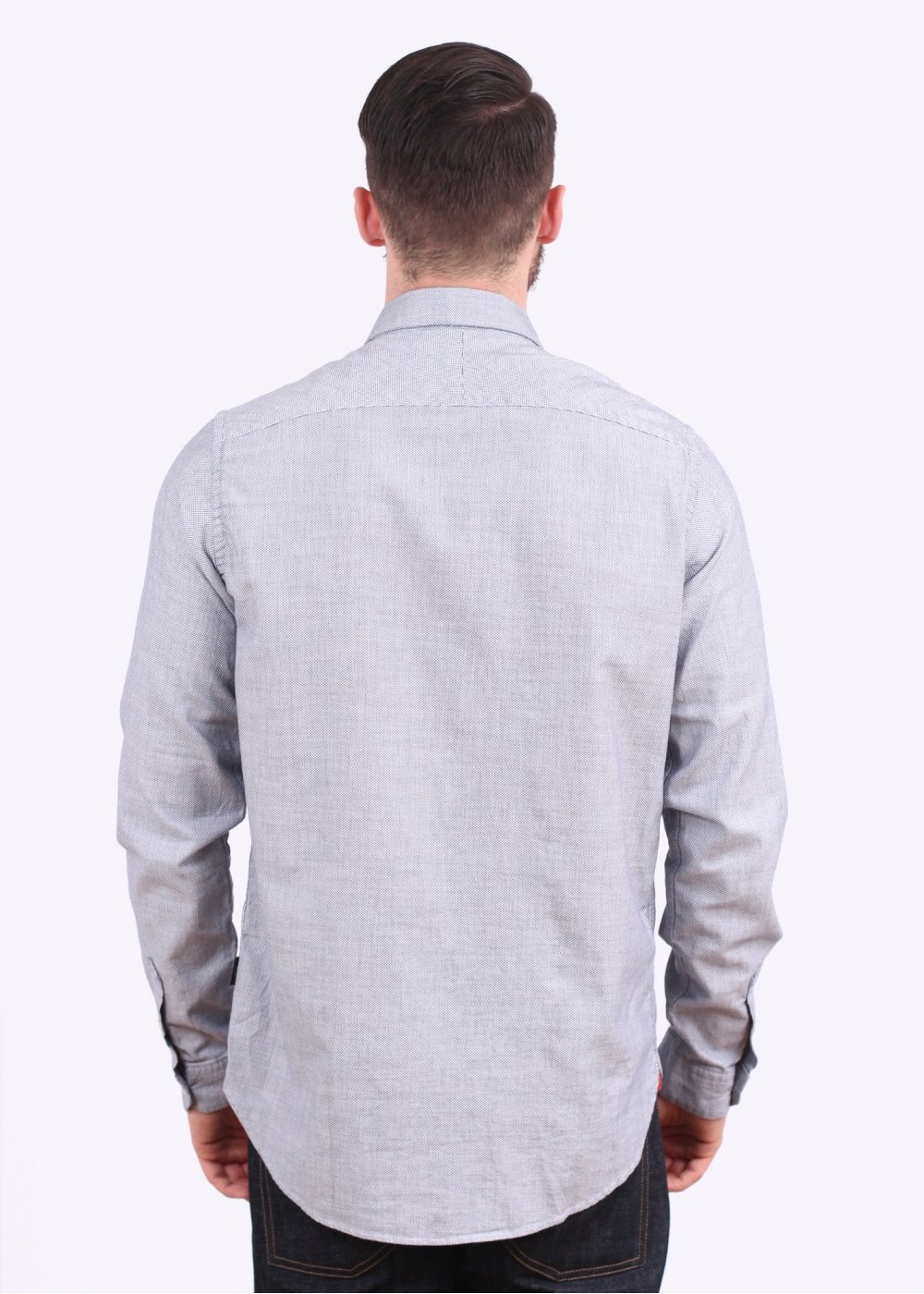 Paul smith jeans long sleeve pattern shirt navy for Long sleeve shirt pattern