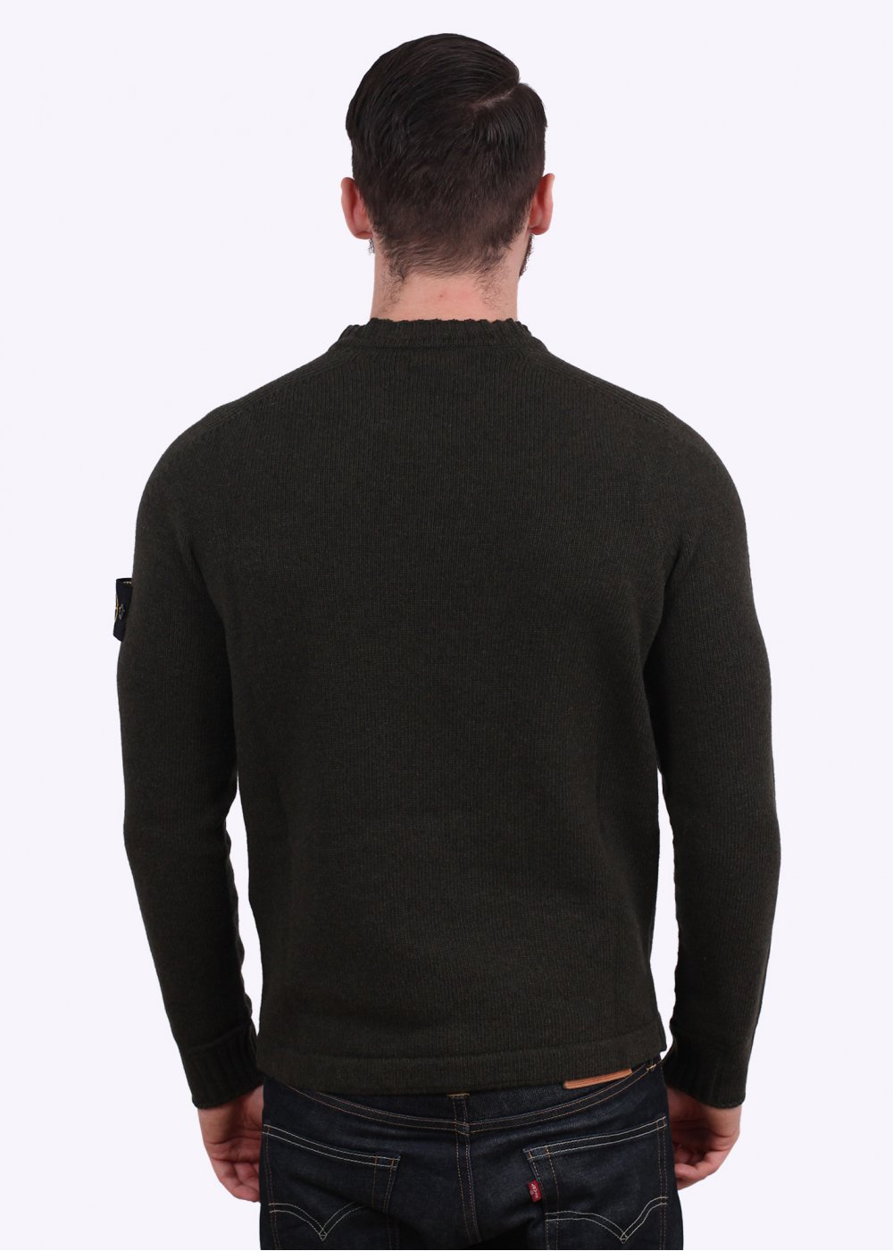 Stone Island Knit Crewneck Jumper Military Green