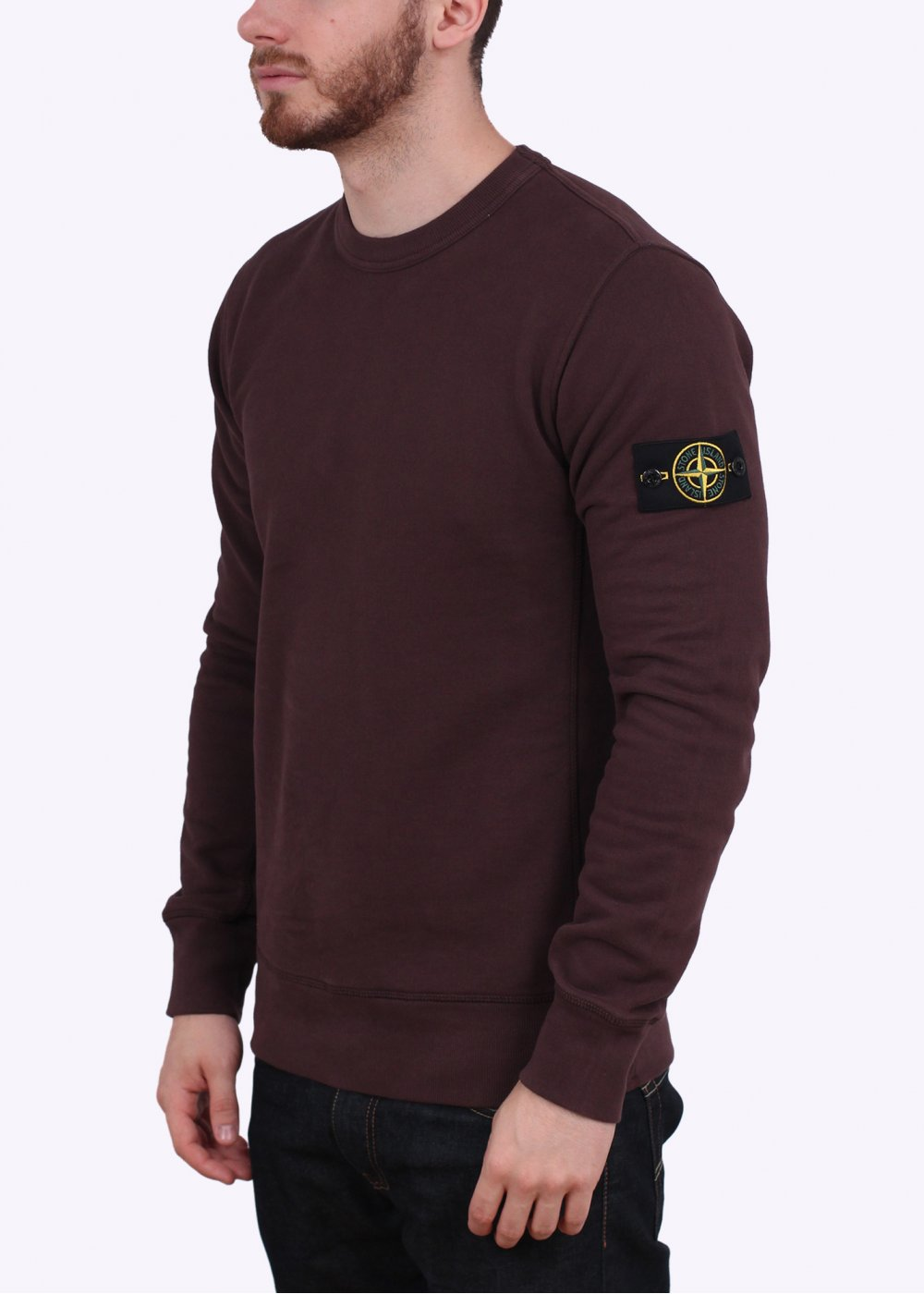 stone island garment dyed crew neck sweatshirt royal blue. Black Bedroom Furniture Sets. Home Design Ideas