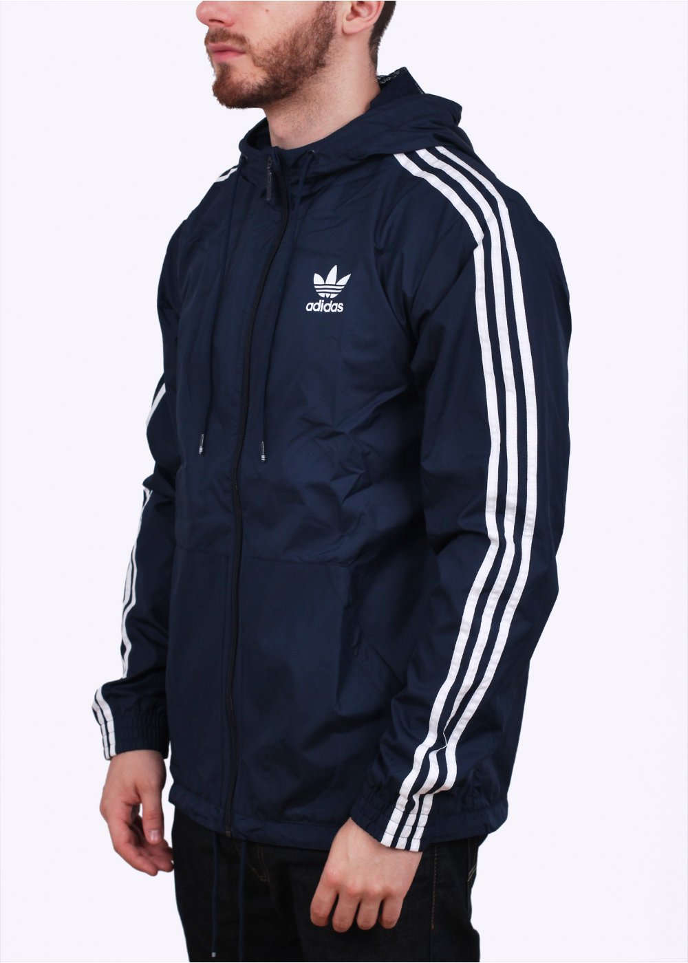 Adidas Originals Itasca Hooded Windbreaker Navy