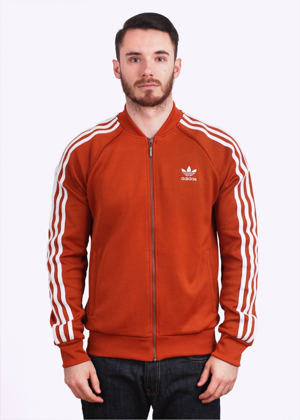 Adidas Originals Sst Track Top Fox Red