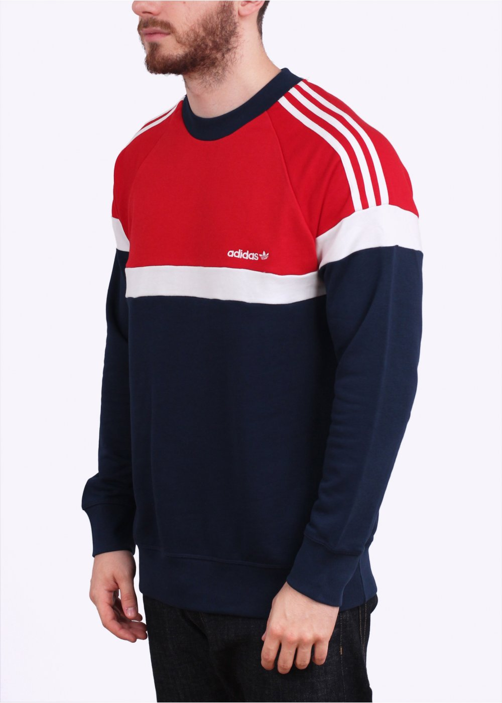 adidas originals itasca crew sweatshirt navy. Black Bedroom Furniture Sets. Home Design Ideas