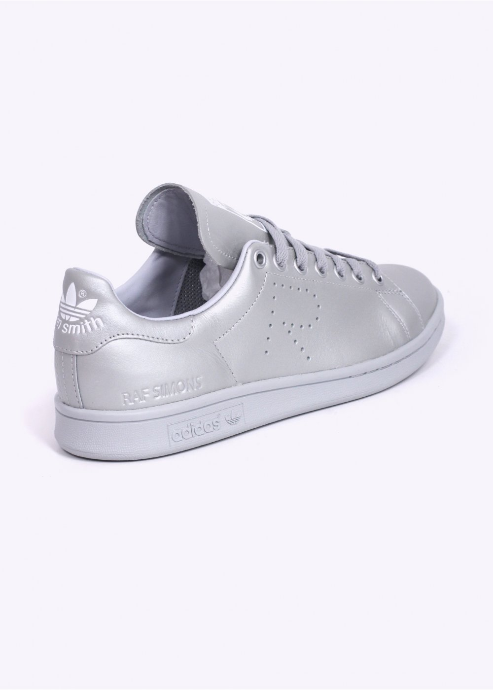adidas x raf simons stan smith trainers silver. Black Bedroom Furniture Sets. Home Design Ideas
