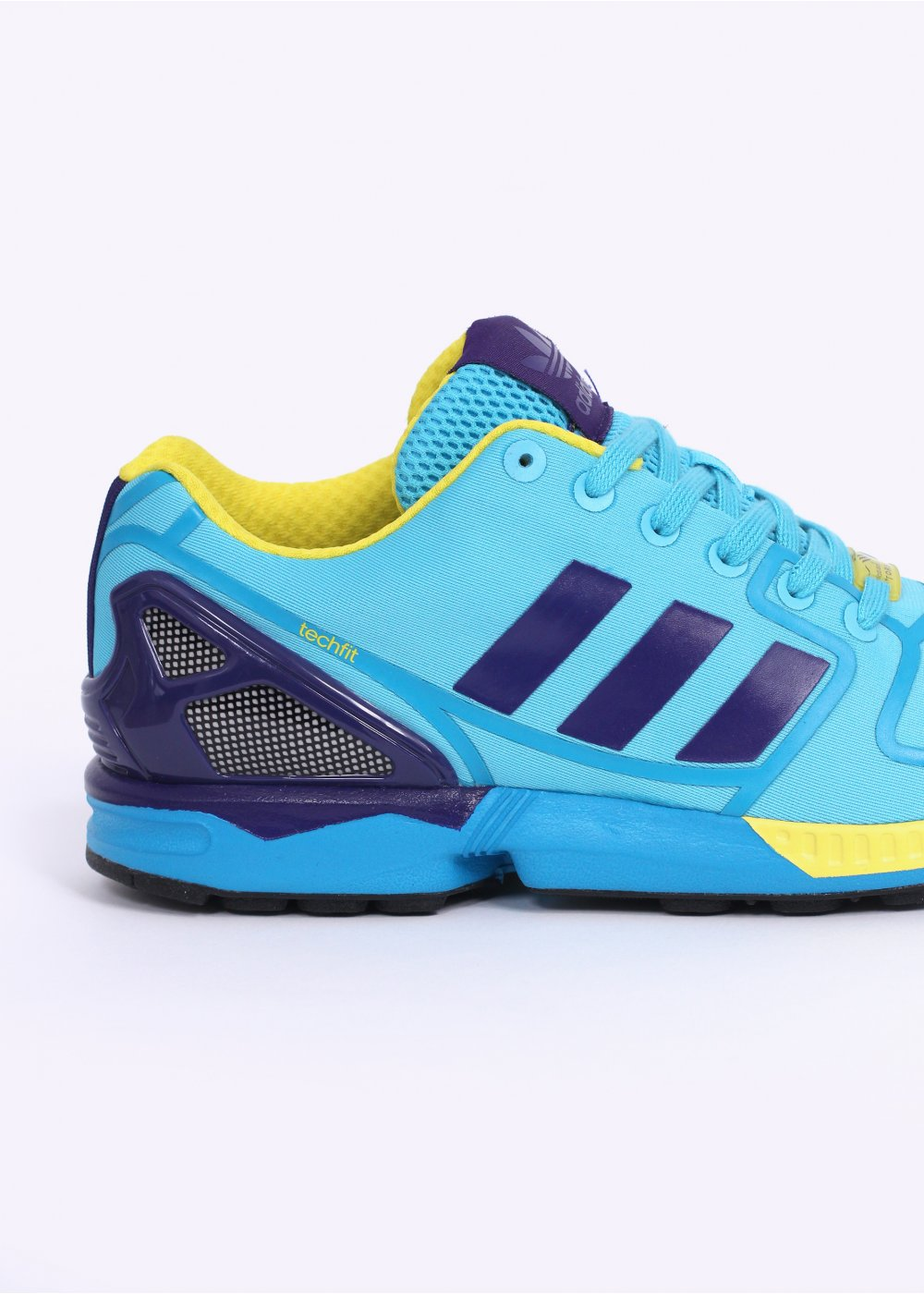 adidas originals zx flux techfit trainers cyan. Black Bedroom Furniture Sets. Home Design Ideas