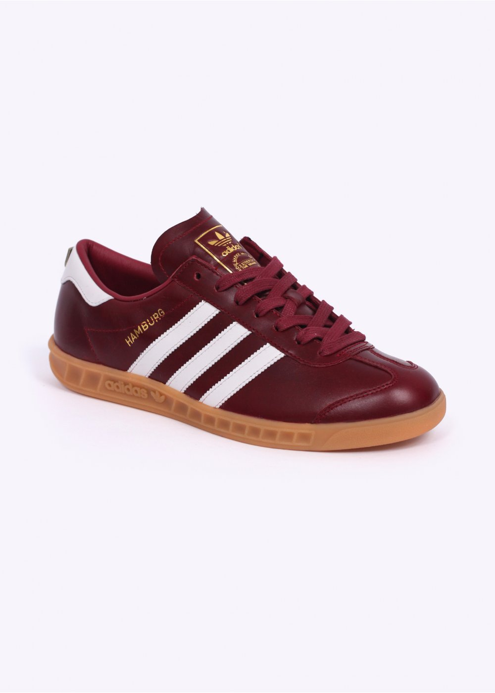 burgundy adidas trainers