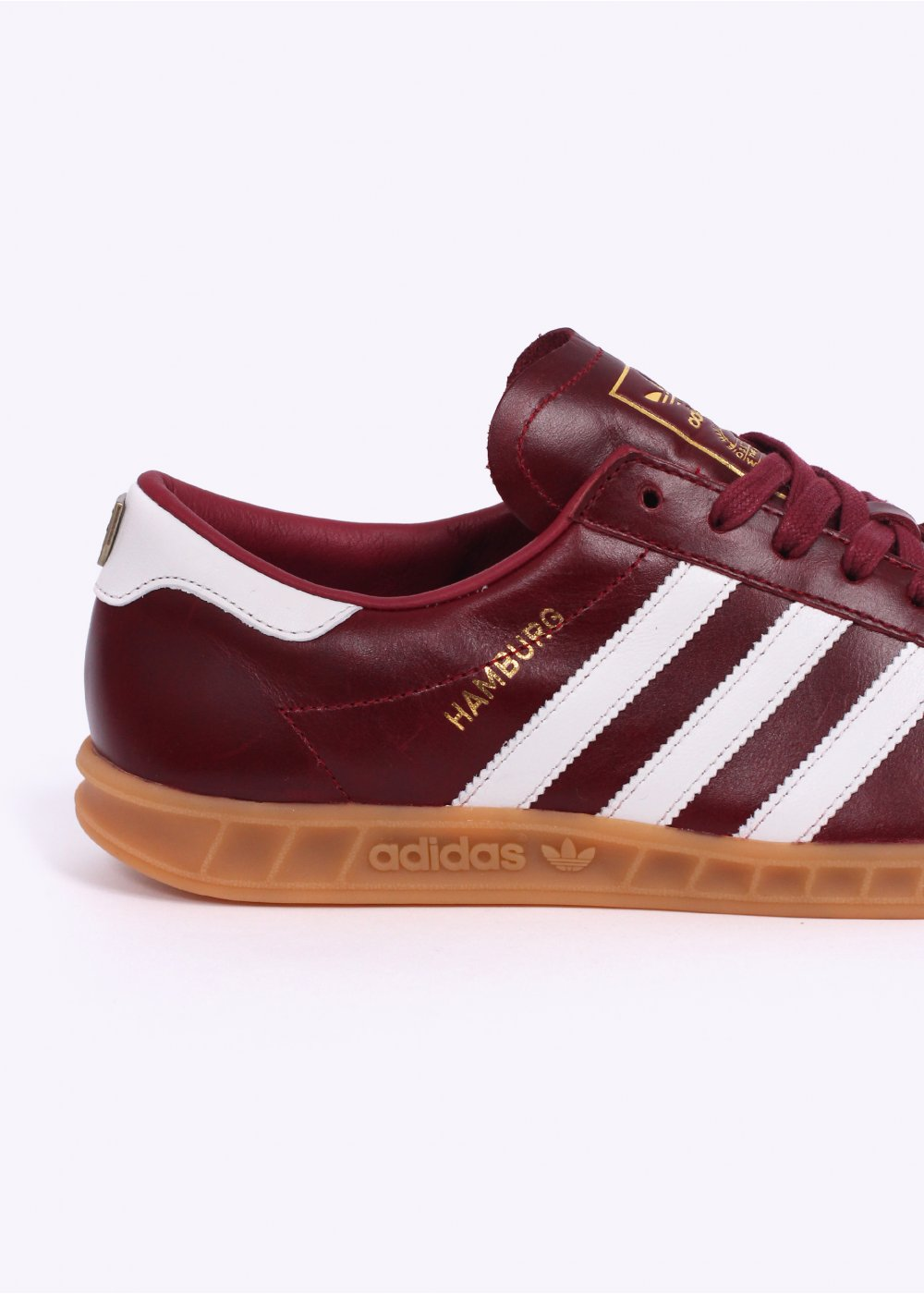 adidas originals footwear hamburg 39 made in germany 39 trainers collegiate burgundy white. Black Bedroom Furniture Sets. Home Design Ideas