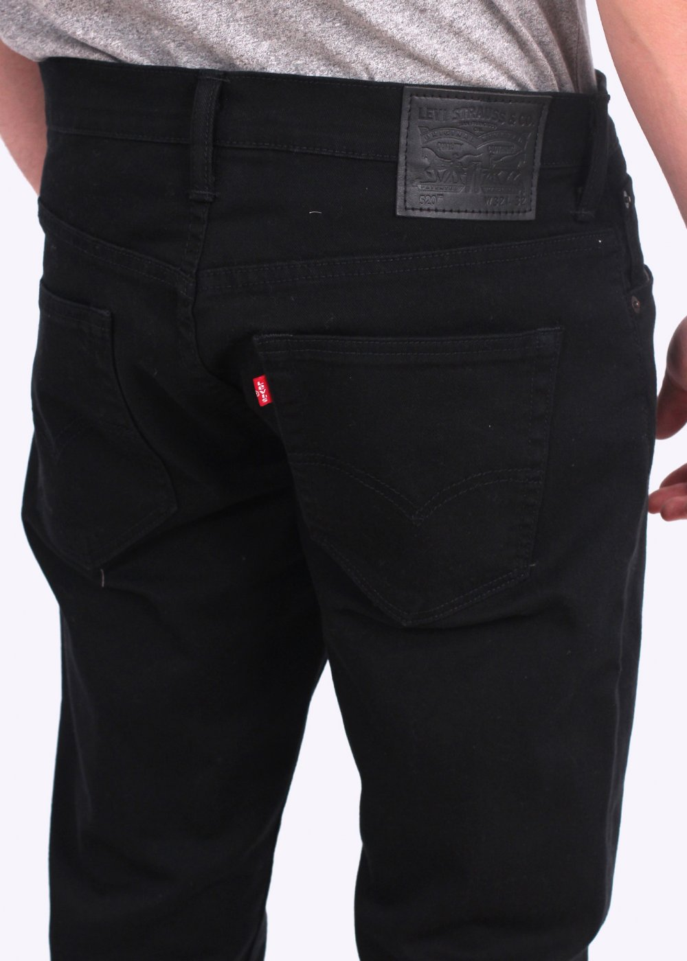 levis 520 extreme tapered jeans jet black
