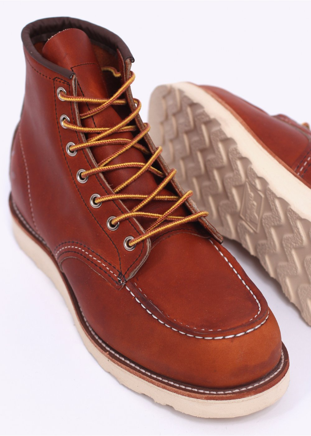 Red Wing 875 Heritage Work 6 Moc Toe Leather Boots Oro