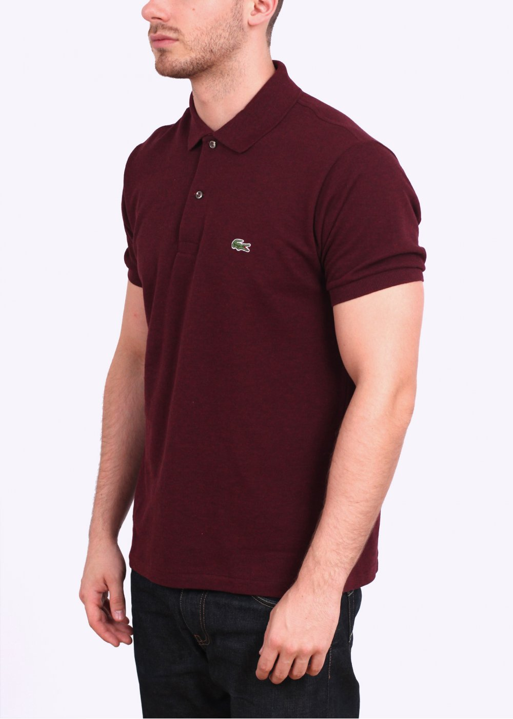 Lacoste short sleeve polo shirt billberry red lacoste for Short sleeve lacoste shirt