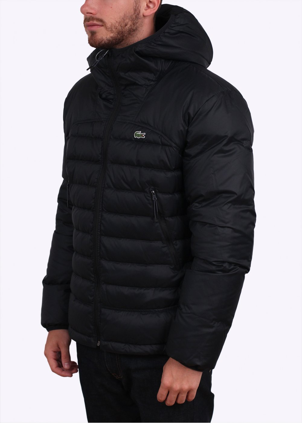 Barbour Spean large padded jacket in green. £ Polo Ralph Lauren lightweight down puffer jacket player logo in black. £ Armani Exchange long down puffer jacket in black. Nike Down Filled Hooded Jacket In Black £ ellesse chevron puffer jacket in black. £ Good For Nothing hooded puffer jacket in black.