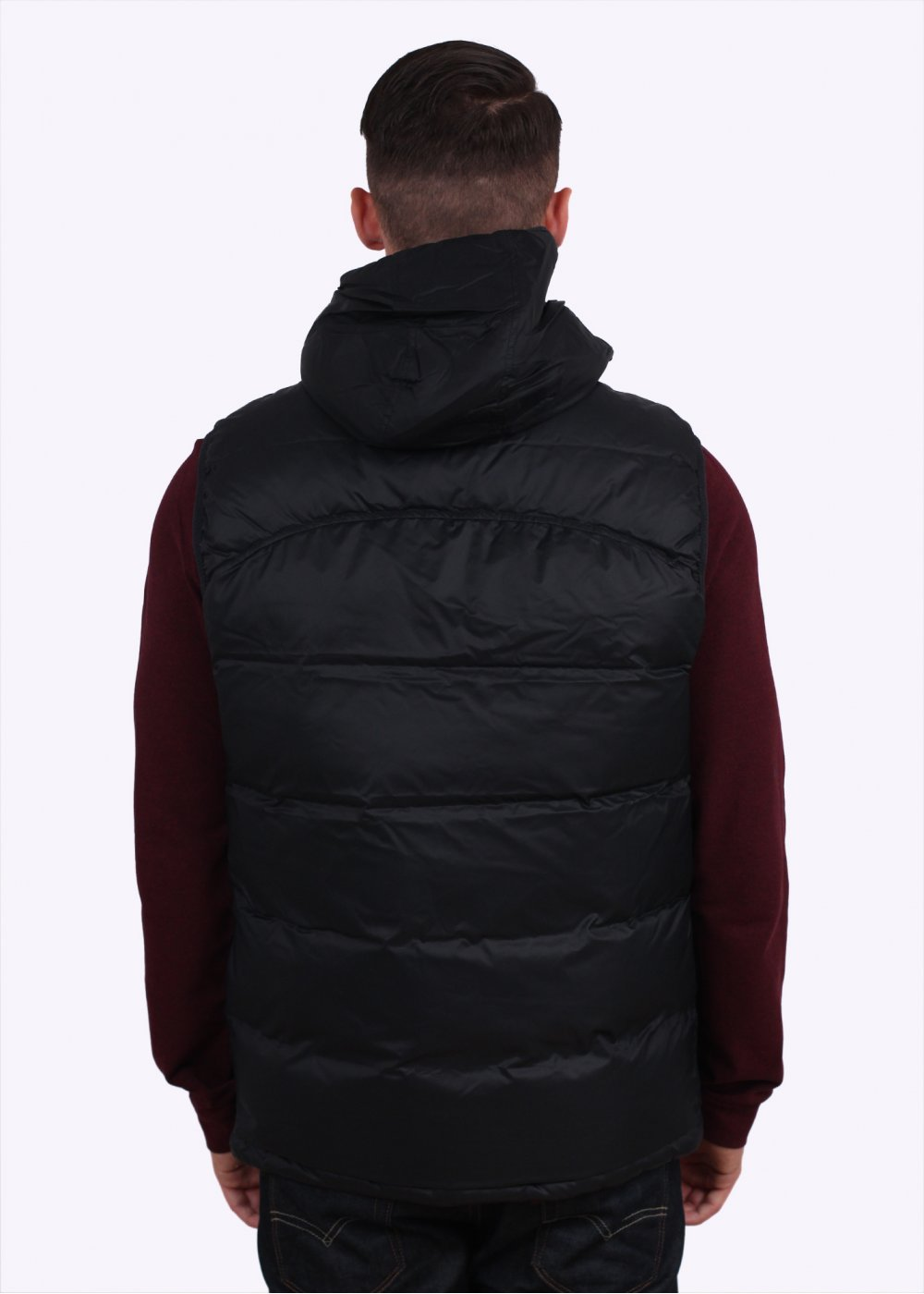 Lacoste Hooded Down Gilet Black