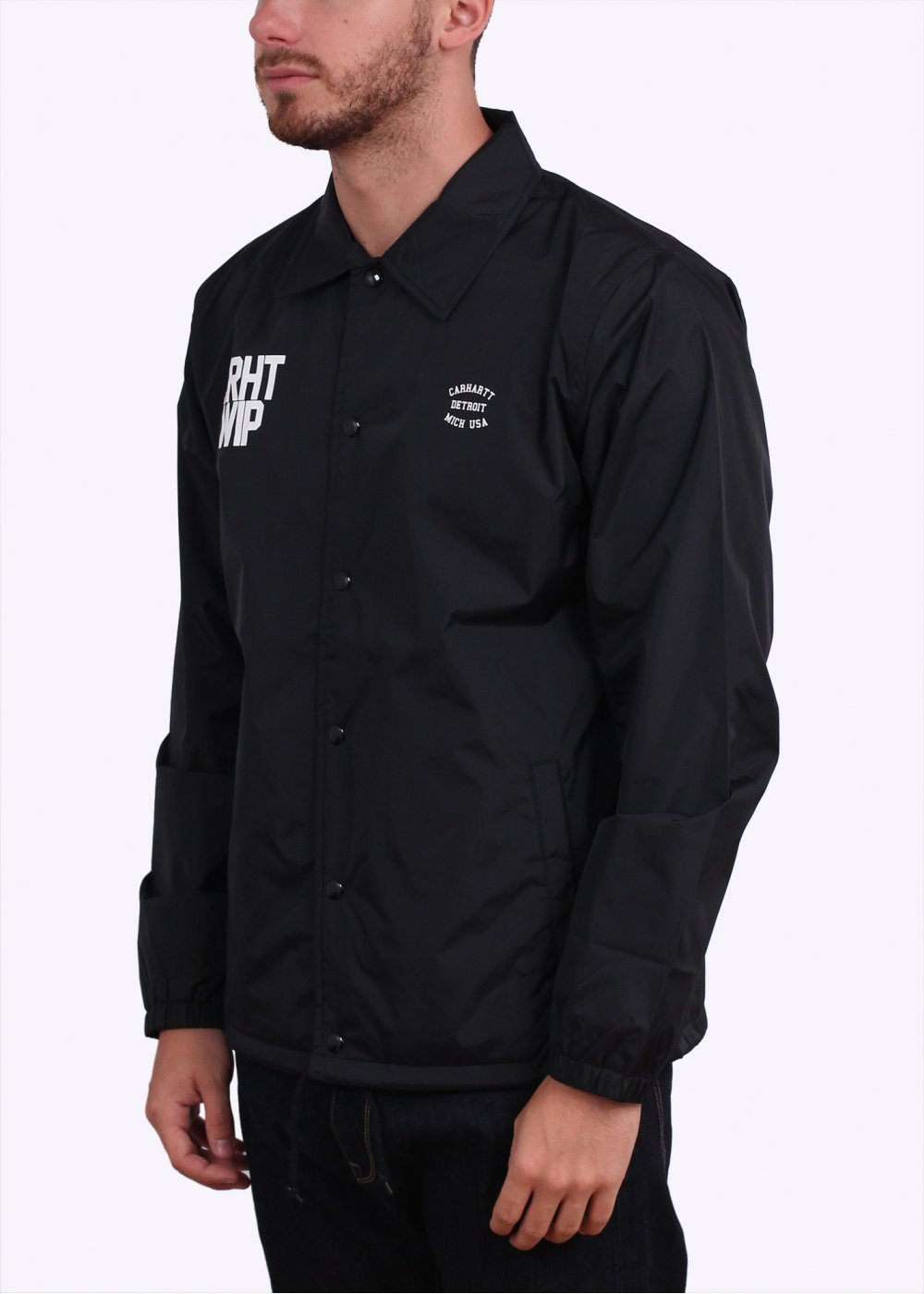 Carhartt state coach jacket black for Coach jacket