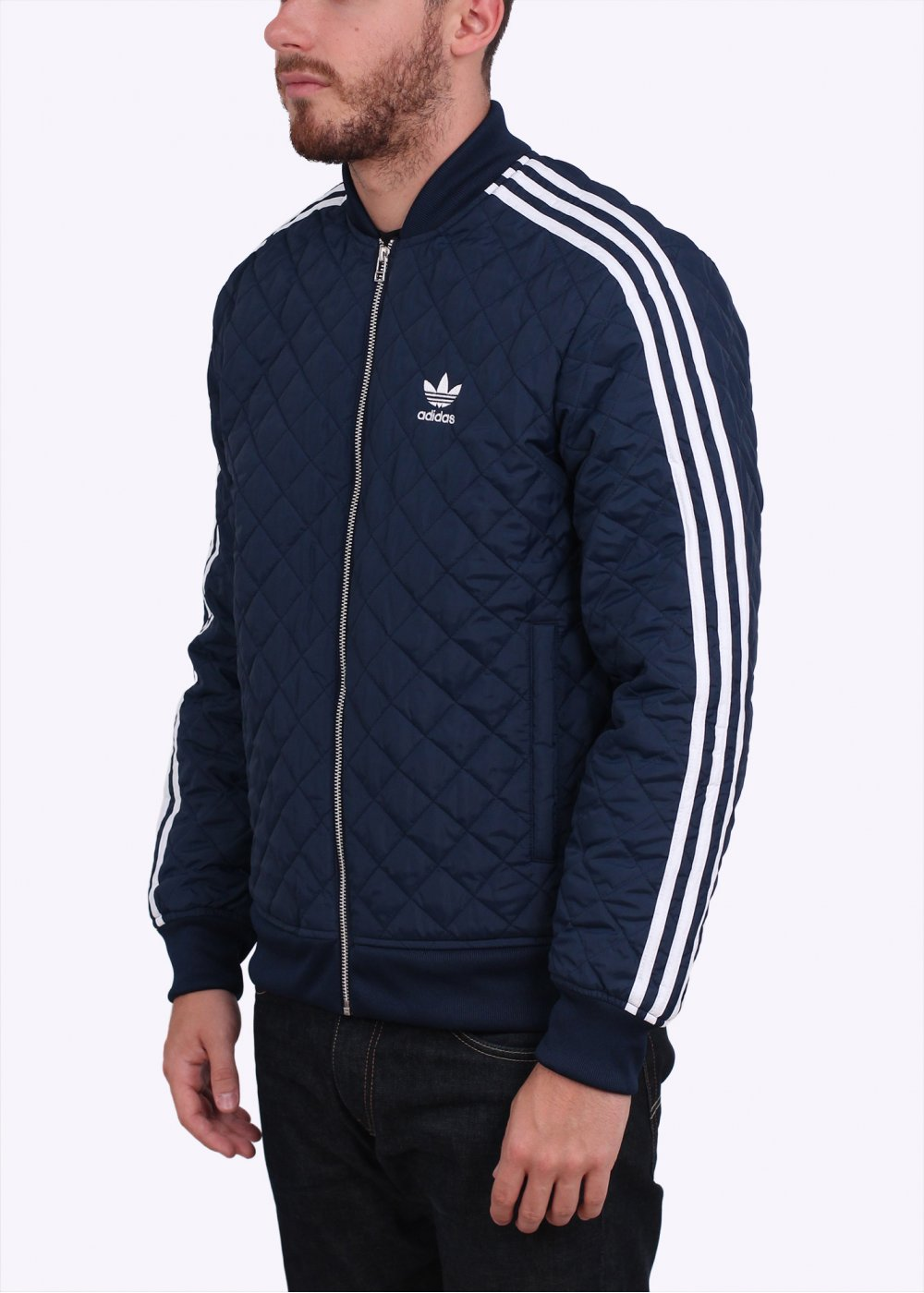adidas originals quilted sst superstar bomber jacket navy blue. Black Bedroom Furniture Sets. Home Design Ideas