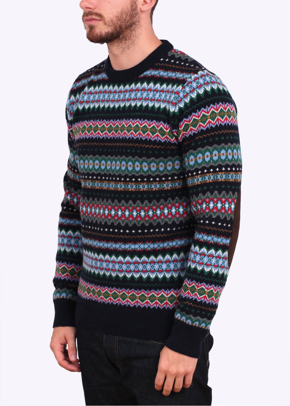 Barbour Heritage Caistown Fair Isle Lambswool Jumper