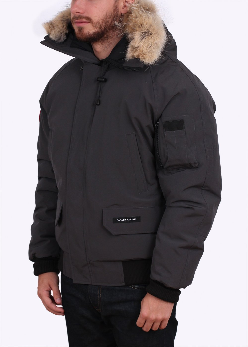canada goose chilliwack bomber jacket graphite. Black Bedroom Furniture Sets. Home Design Ideas
